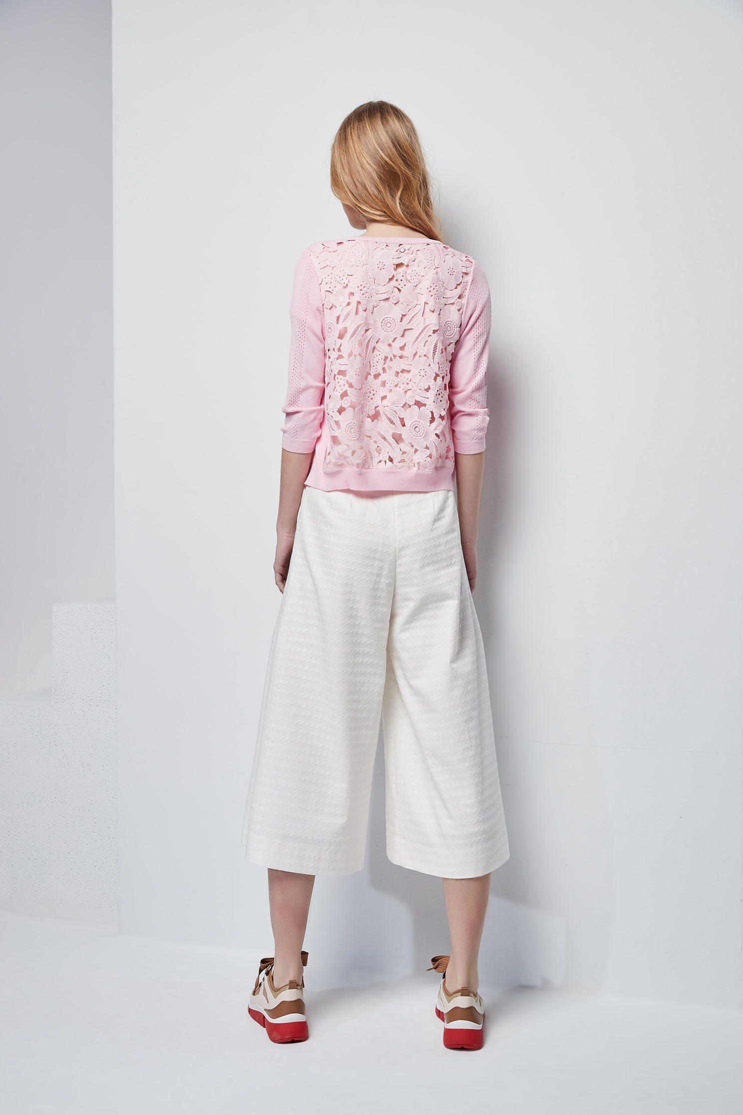 Knitting lace coat