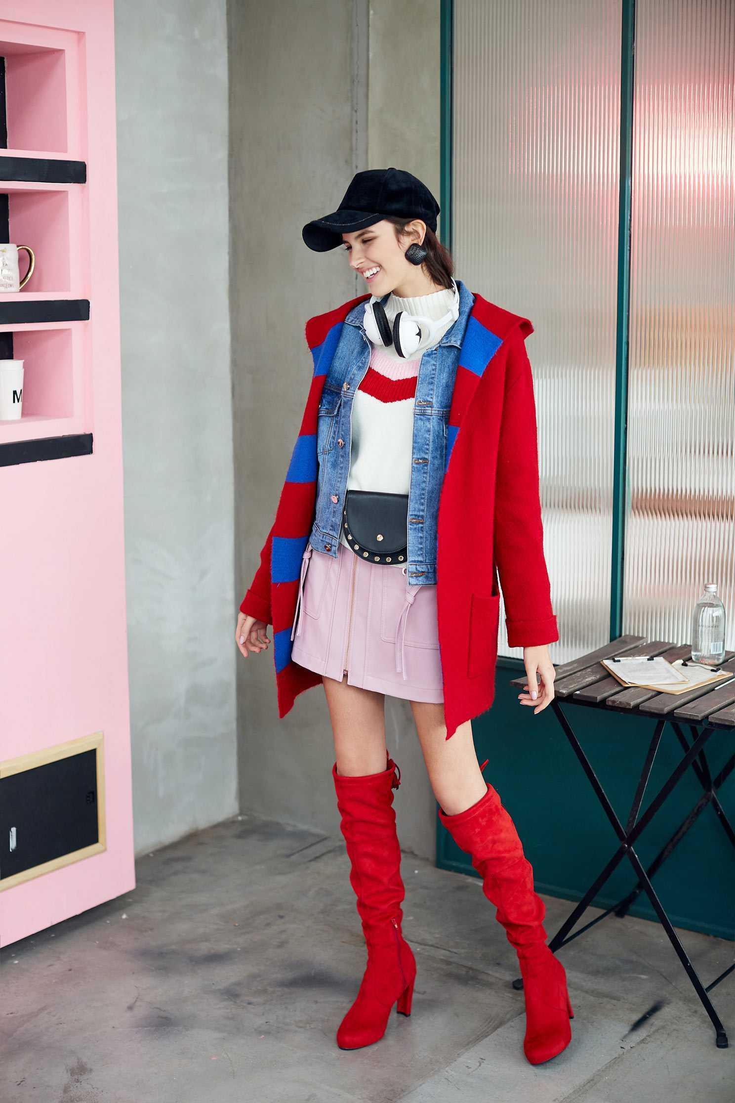 Hooded knit coat,outerwear,hoodiejacket,knitting,knittedjacket,longcoat,longsleeveouterwear