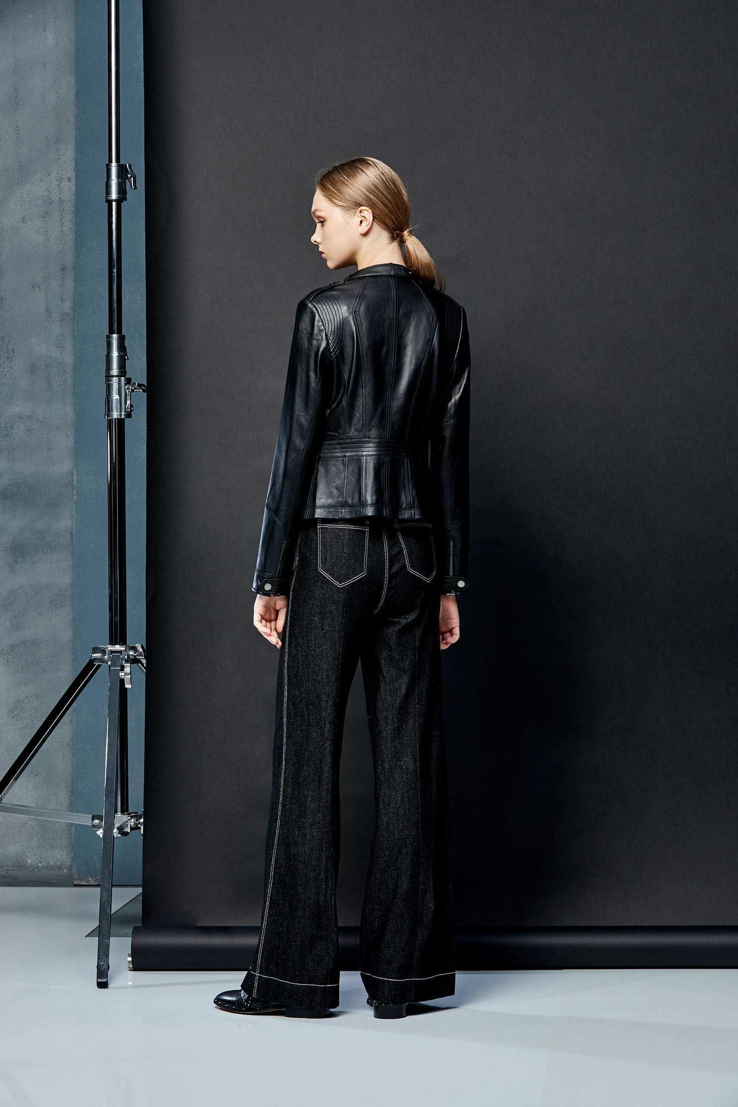 Quality fitting goat coat,外套,Biker_Jacket,長袖外套,黑色外套