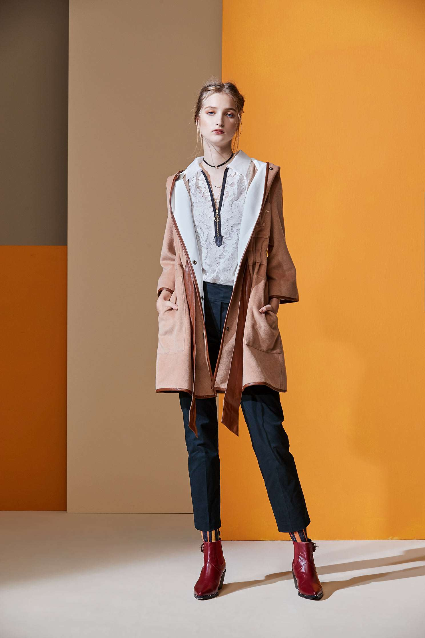 Khaki wool cape jacket,外套,皮革,Cardigan,Hoodie Jacket,長袖外套