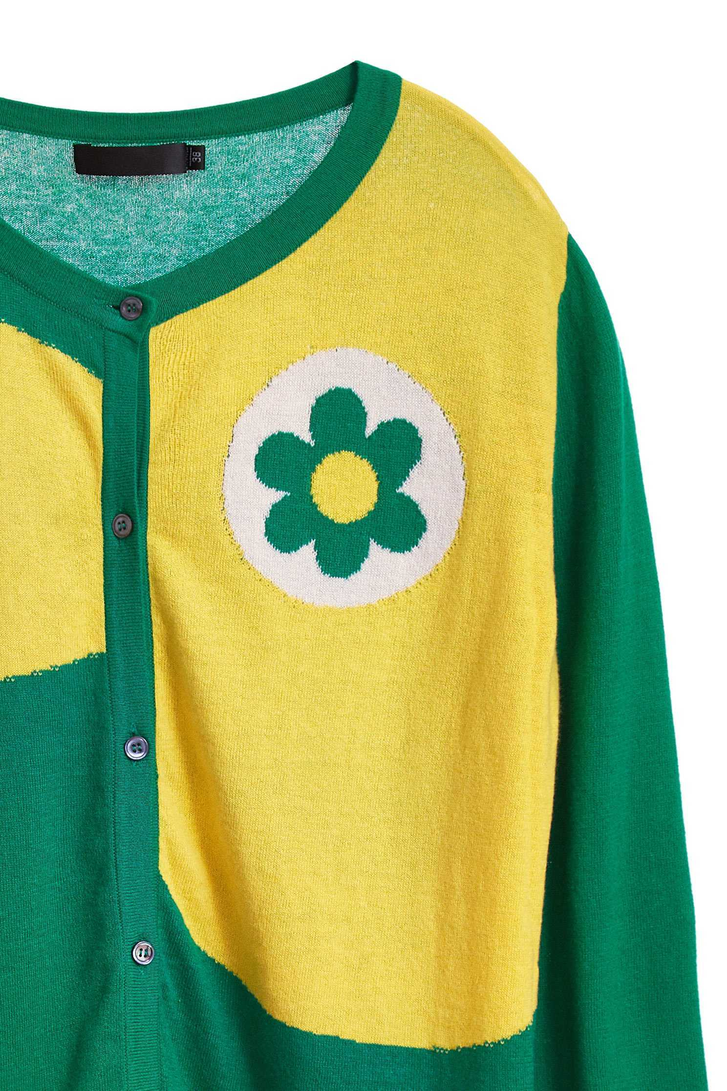 Flower design coat,earthsigns,outerwear,cotton,cardigan,knittedjacket,longsleeveouterwear
