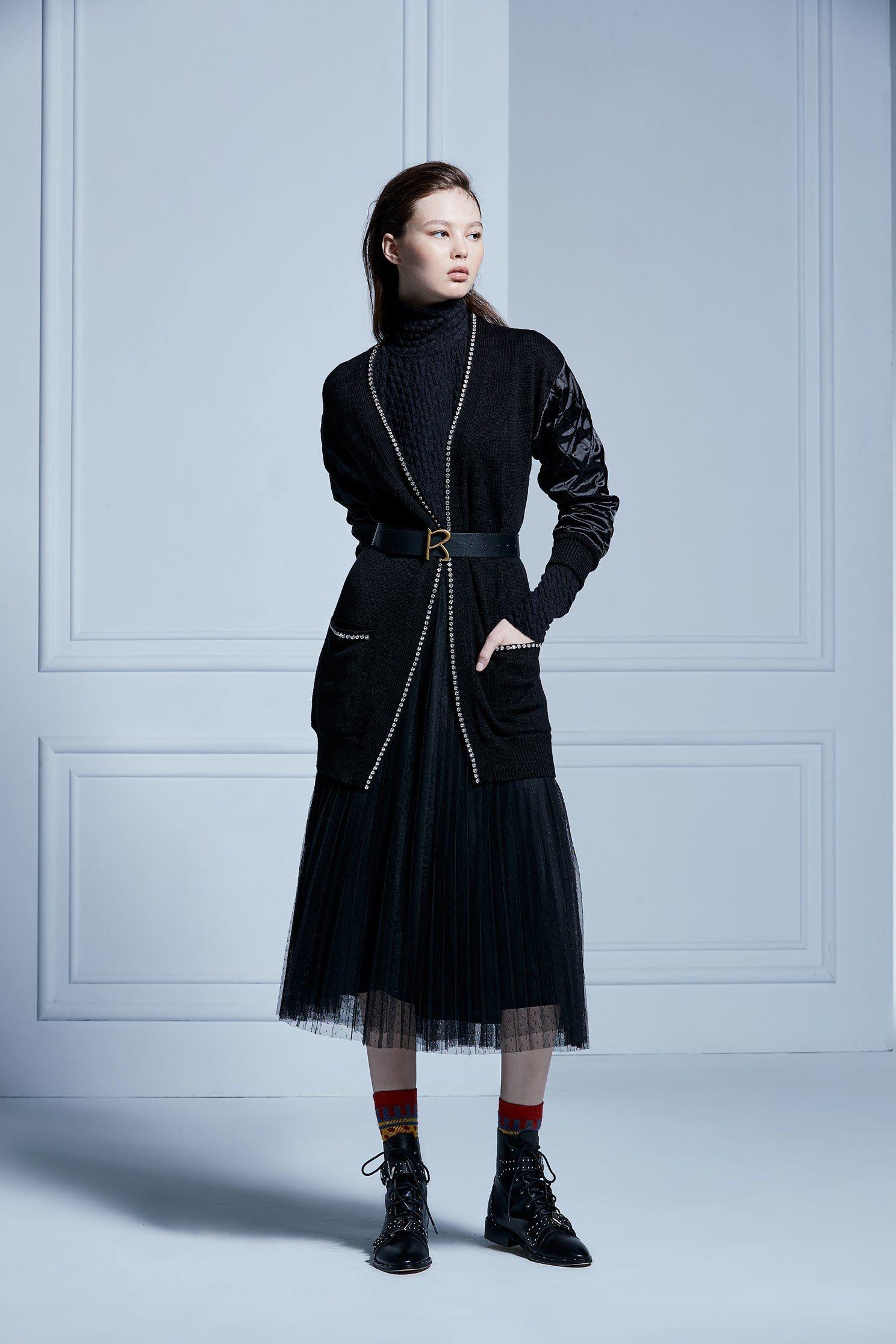 contrast cardigans,coldforwinter,cardigan,knitting,knittedjacket,knittedtop,longsleeveouterwear,blackouterwear