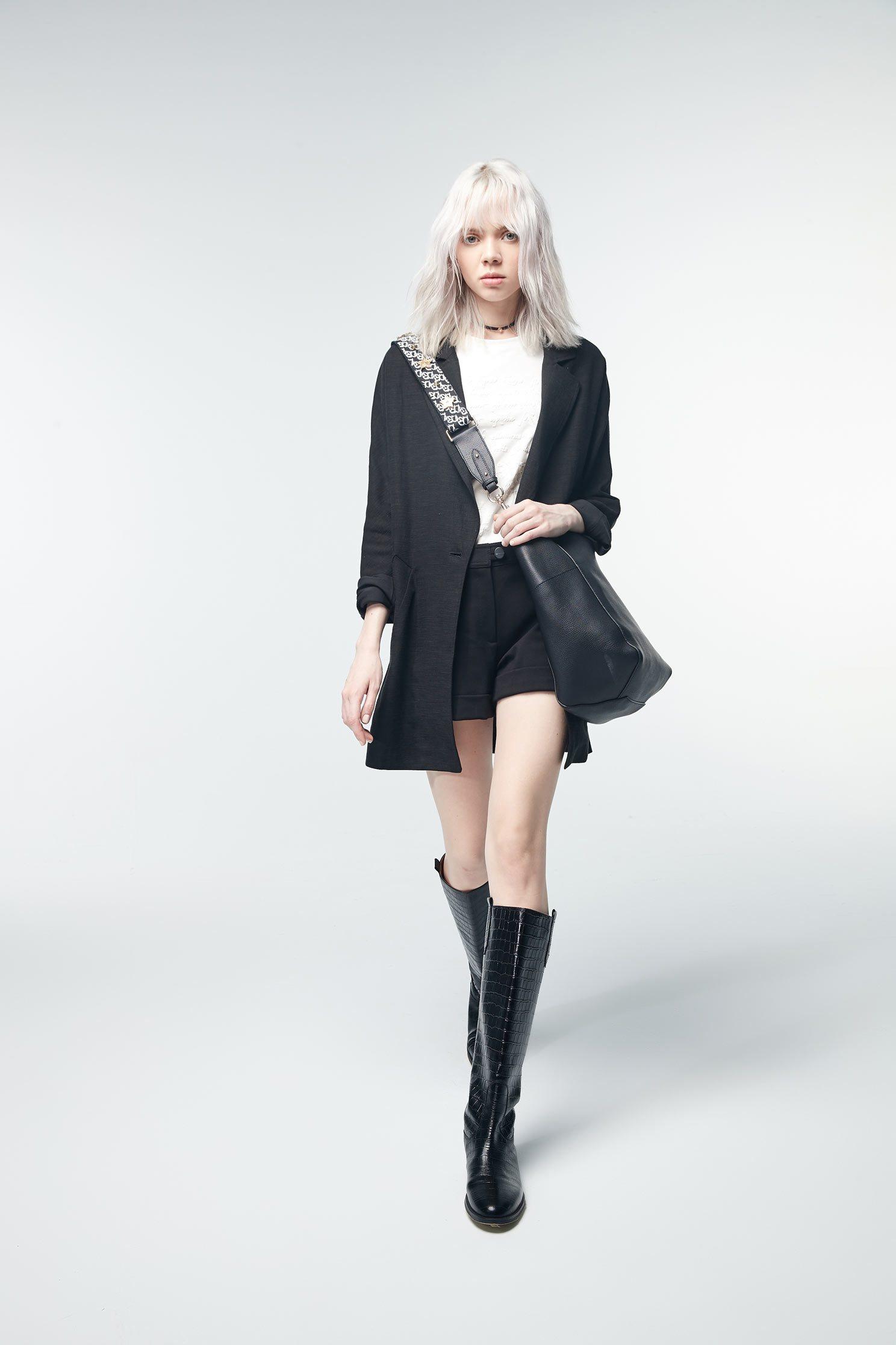 Cotton suit jacket,外套,i-select,Blazer,長袖外套,黑色外套