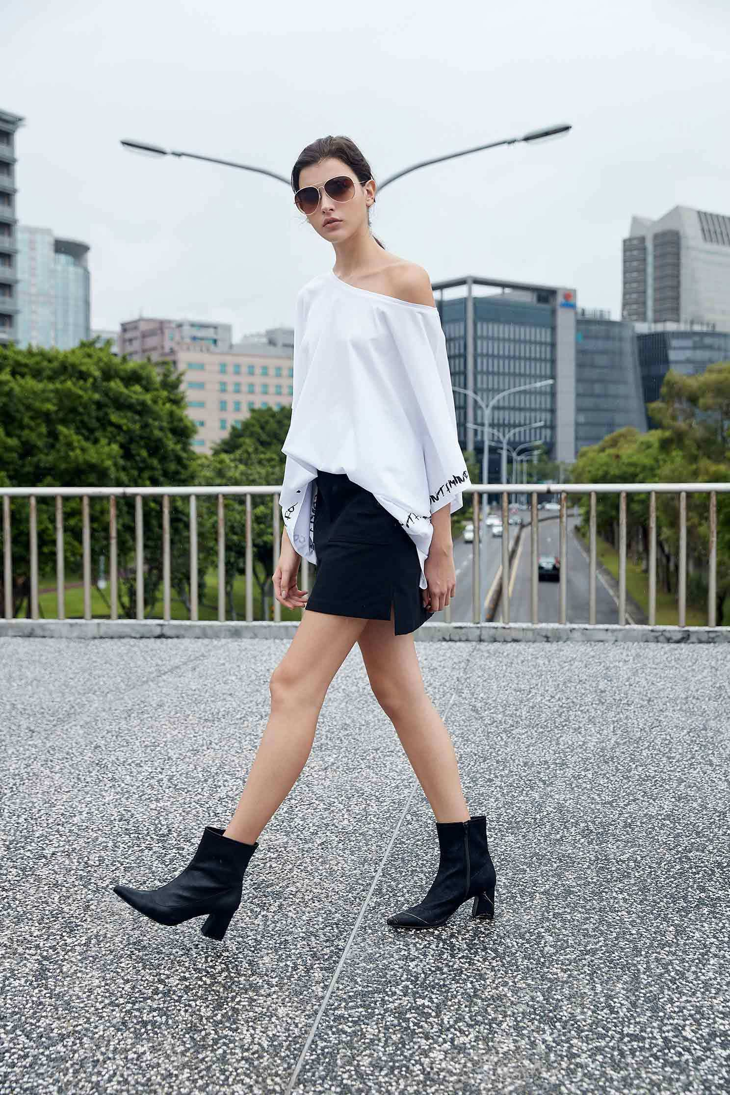 Well-matched basic A line skirt,A-line skirt,Mini Skirt,黑色裙子