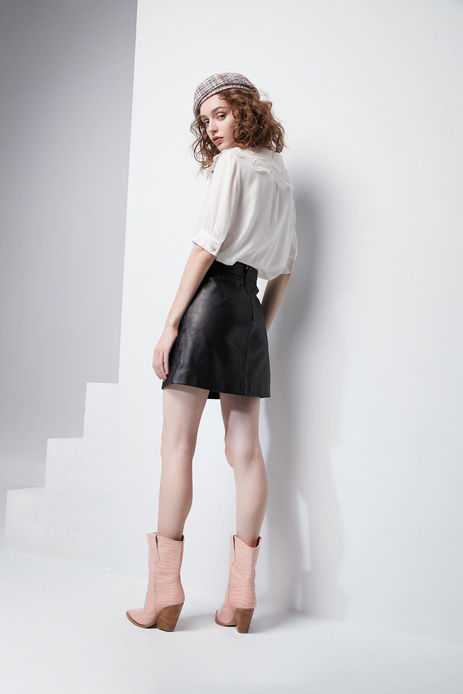 Clean cut modern skirt