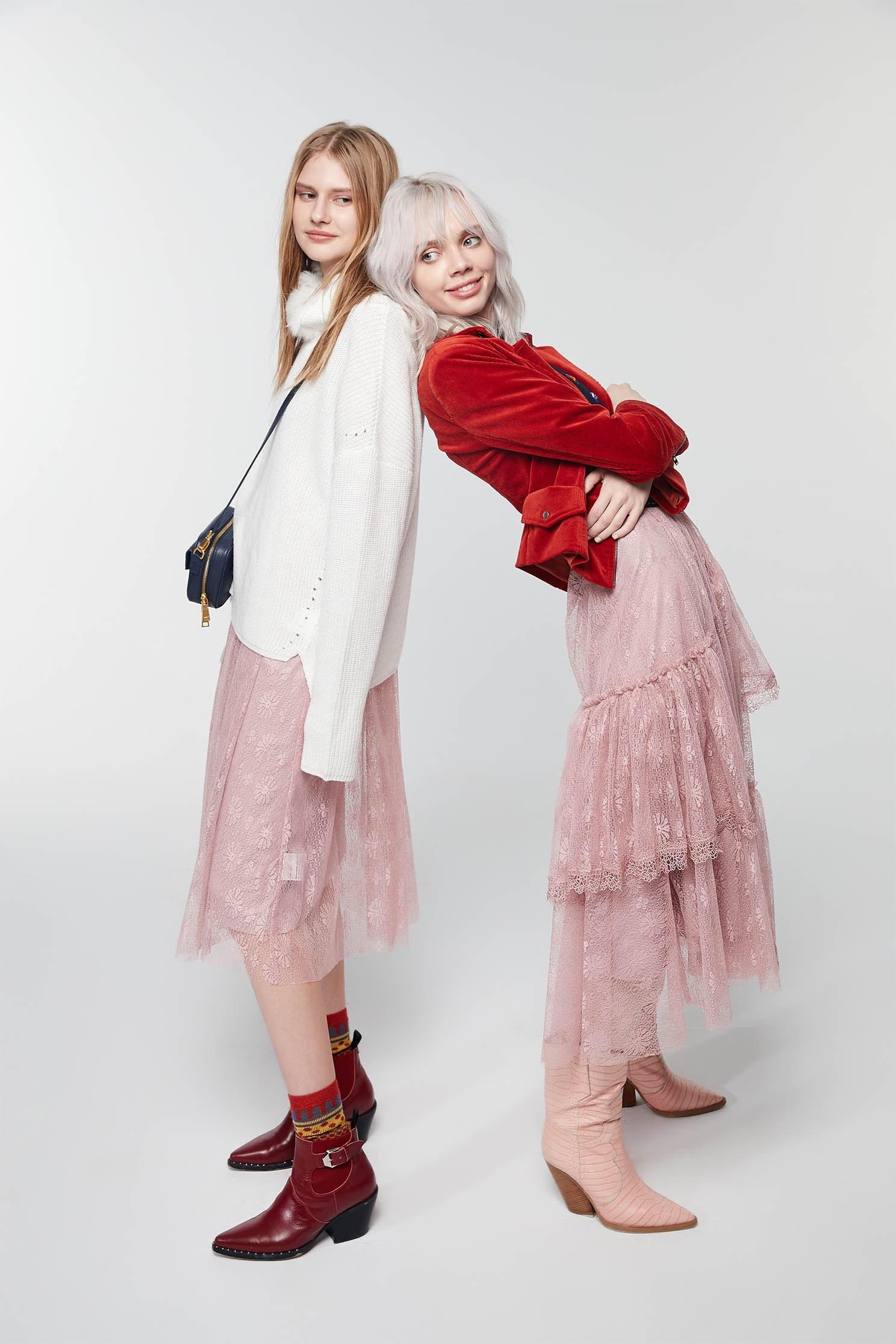 Dry rose lace skirt,firesigns,tulleskirt,lace,laceskirt,longskirt