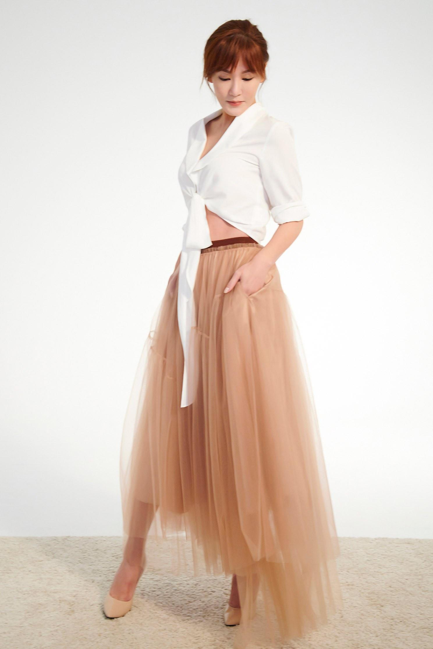 shawl collar dress set,onlinelimitededition,valentine,tulleskirt,mesh,tulleskirt,blouse,longskirt