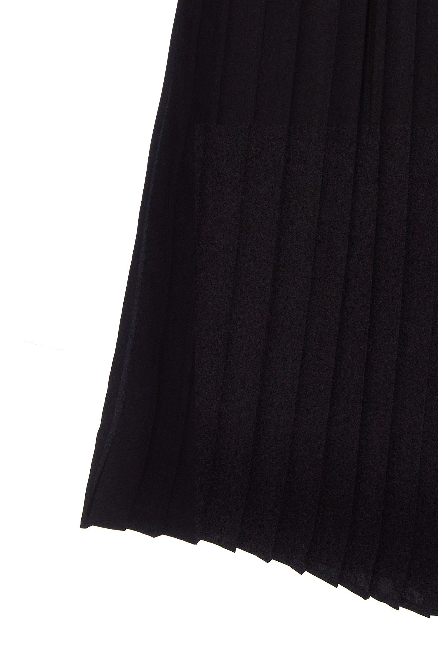 Chic pleated trouser,pants,chiffon,blackpants