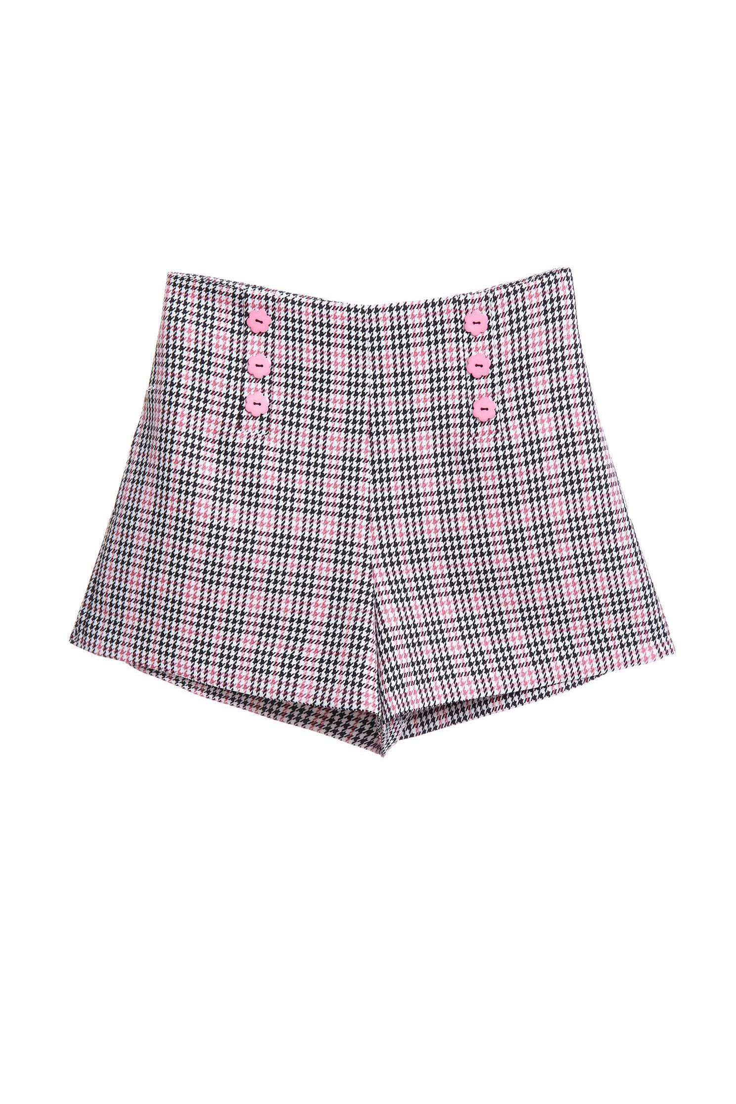 Plaid design shorts,shorts,pants