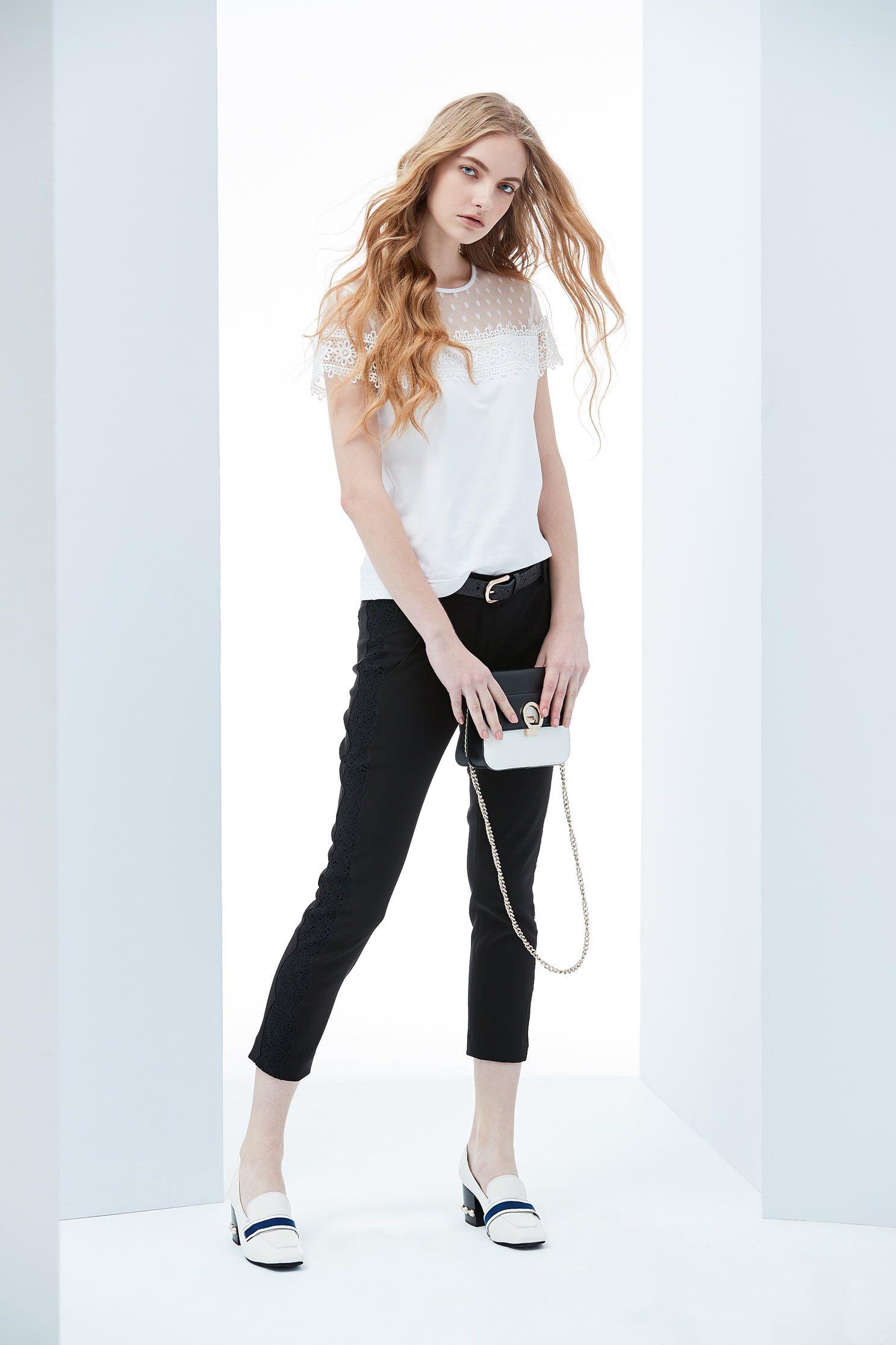 Slim fashion trousers,skinnypants,lace,pants,pants,thinpants,blacktrousers