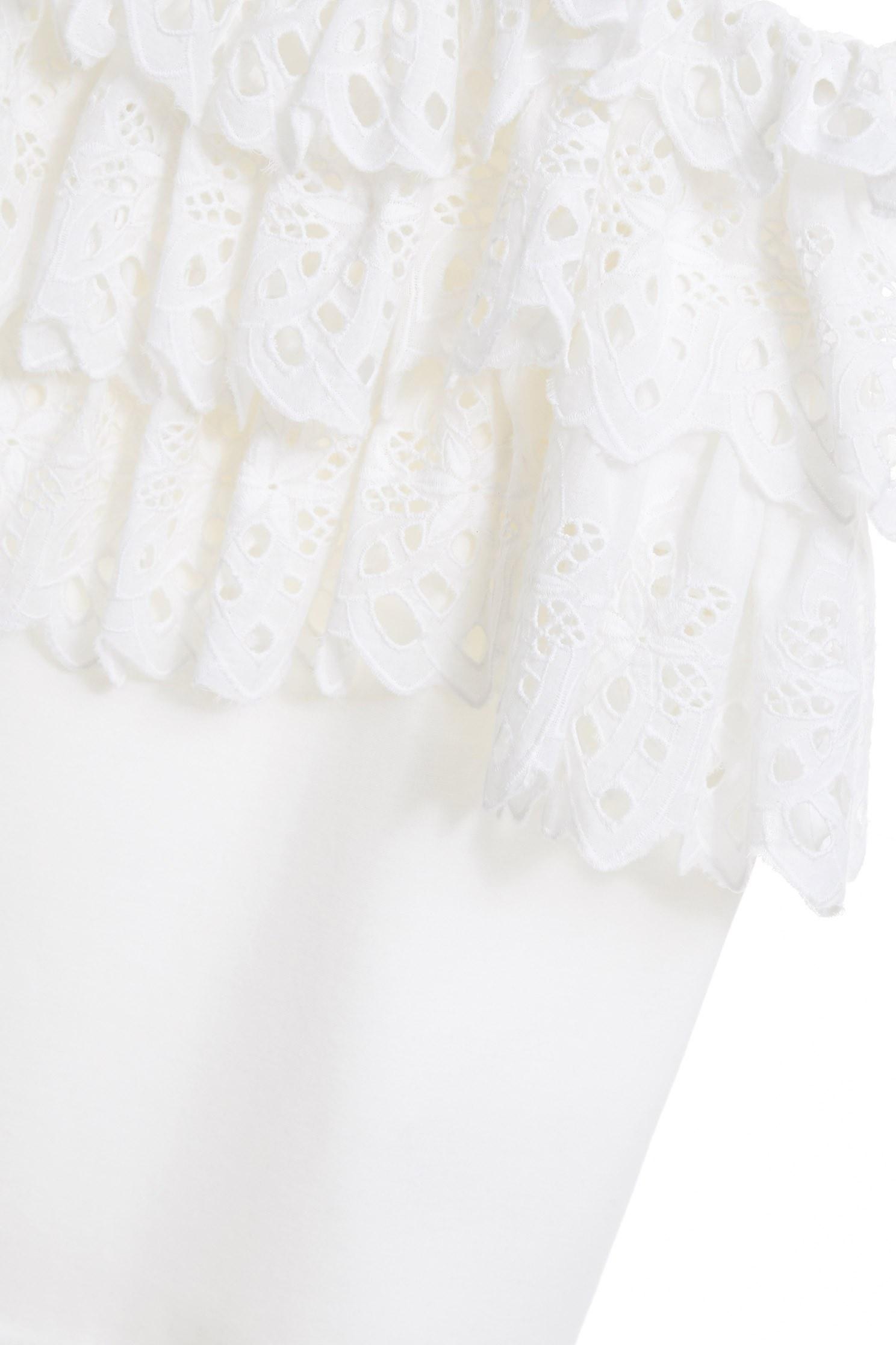 Off-the-shoulder ruffle set (pants),onlinelimitededition,culottespants,pants