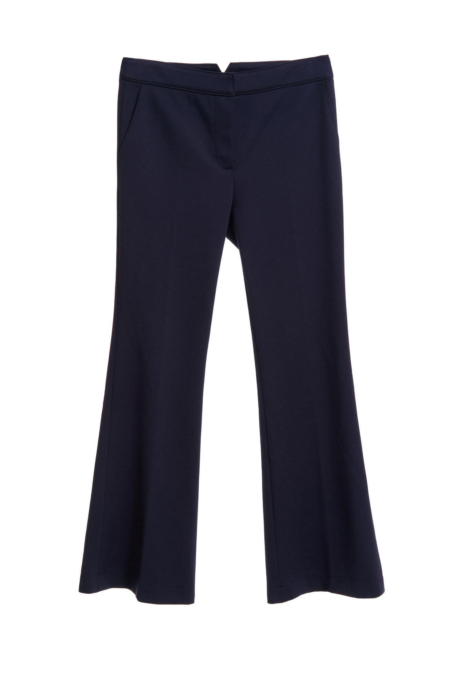 Navy blue twill pants,Bell Bottom Jeans,Pants,長褲,Thin pants