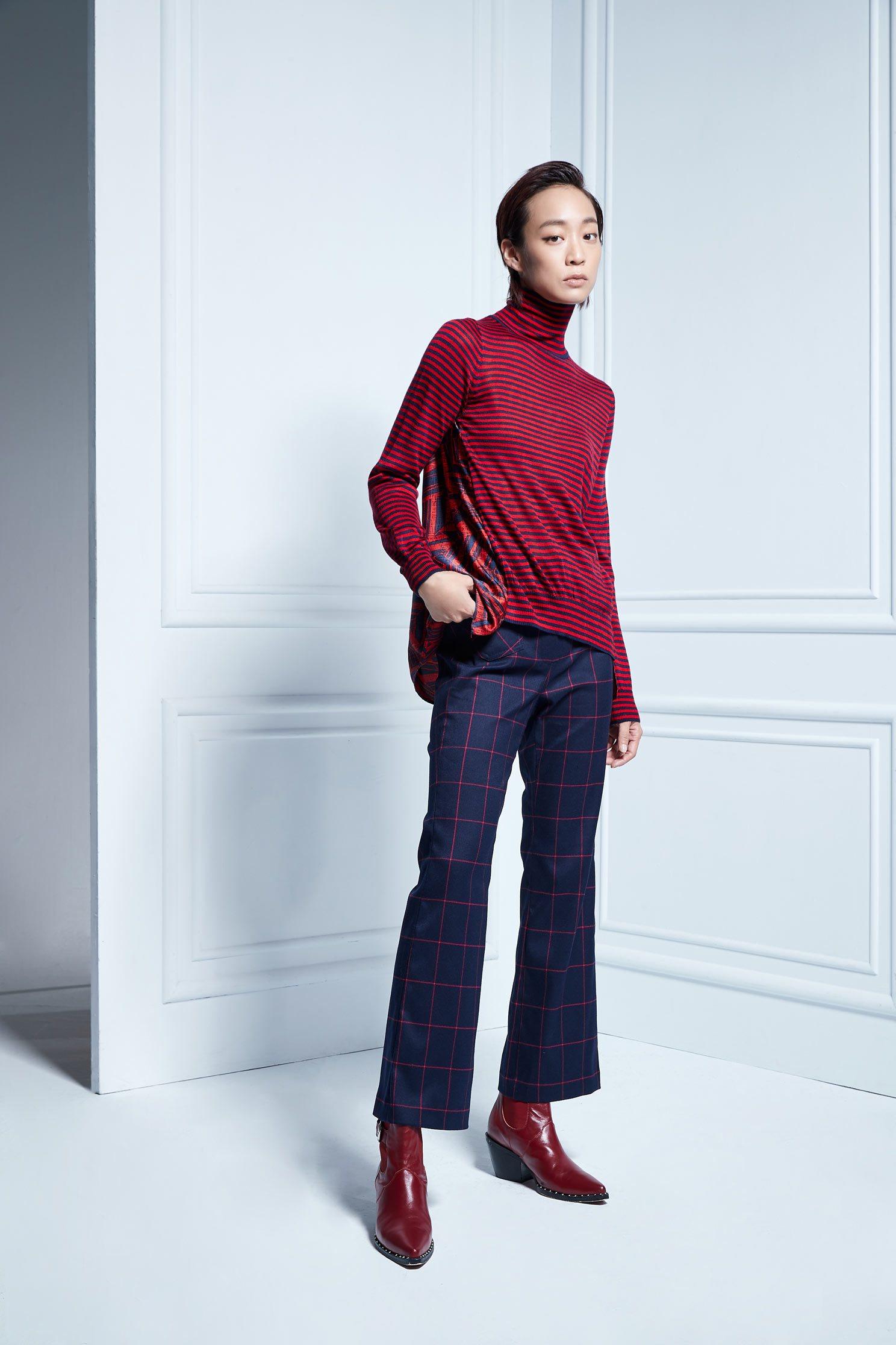 Pink check pants,Bell Bottom Jeans,Culottes Pants,Pants,長褲,Thin pants