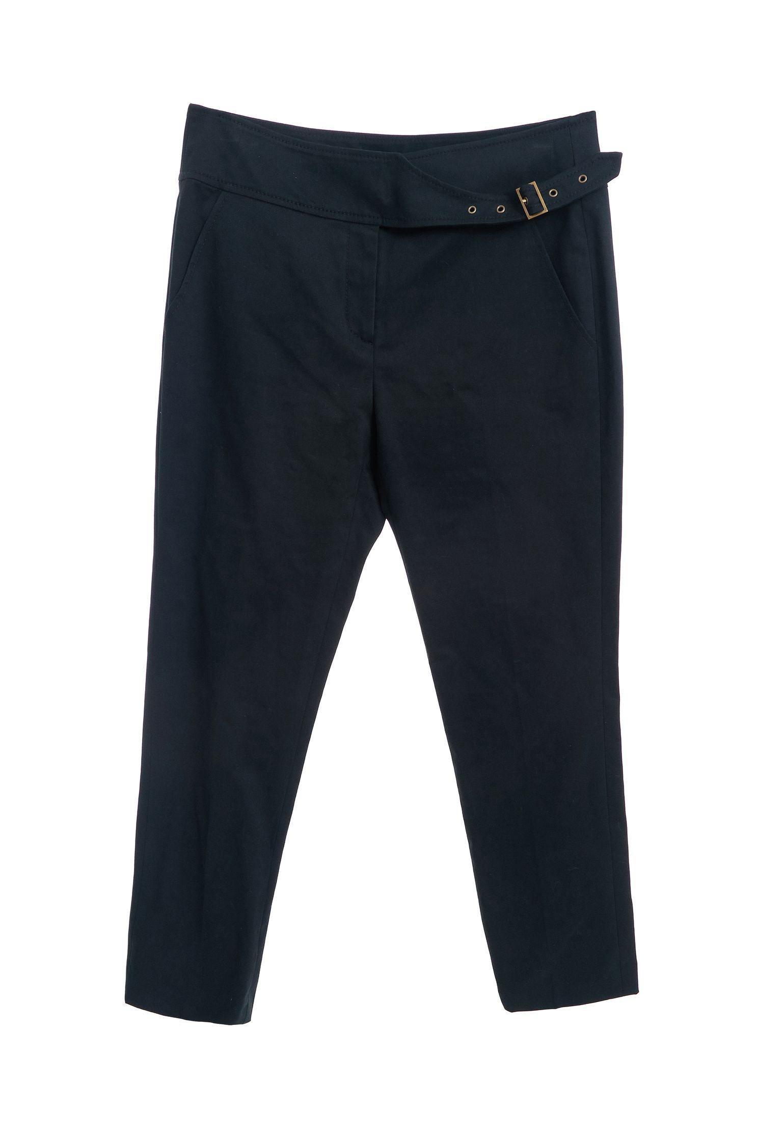 Ink-green narrow cropped pants,skinnypants,pants,pants,thinpants