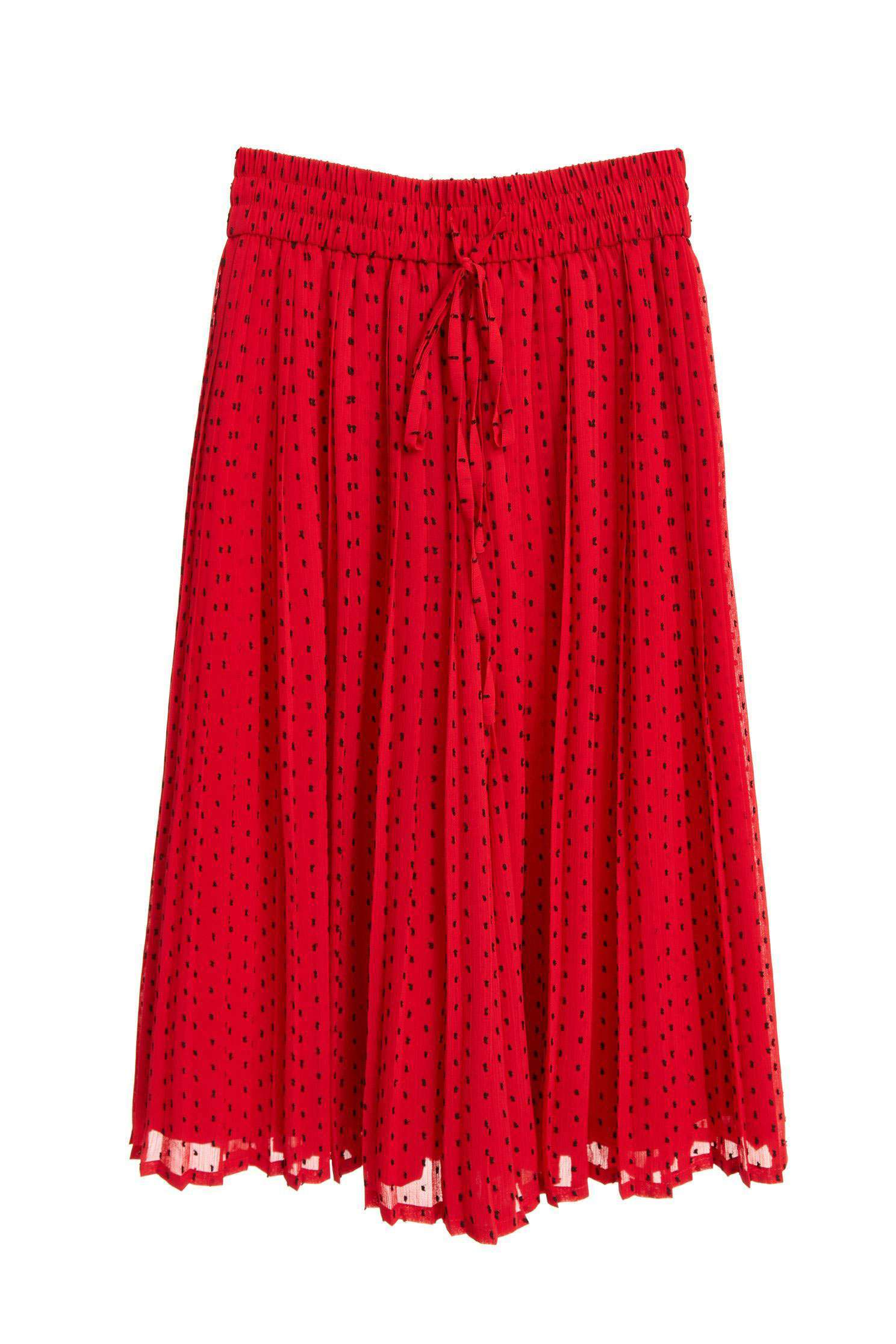 Dot strap hundred pleated skirt,Culottes Pants,Pants,Culottes