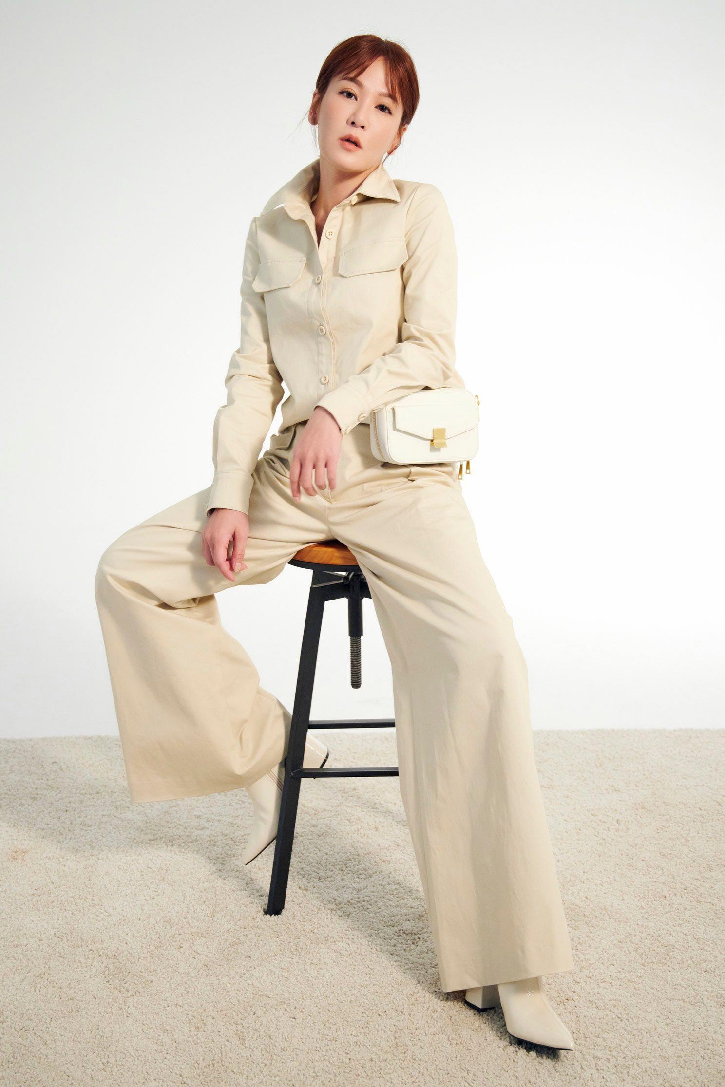 兩件式褲裝,top,onlinelimitededition,culottespants,pants,blouse,longsleevetop,pants,wasthin