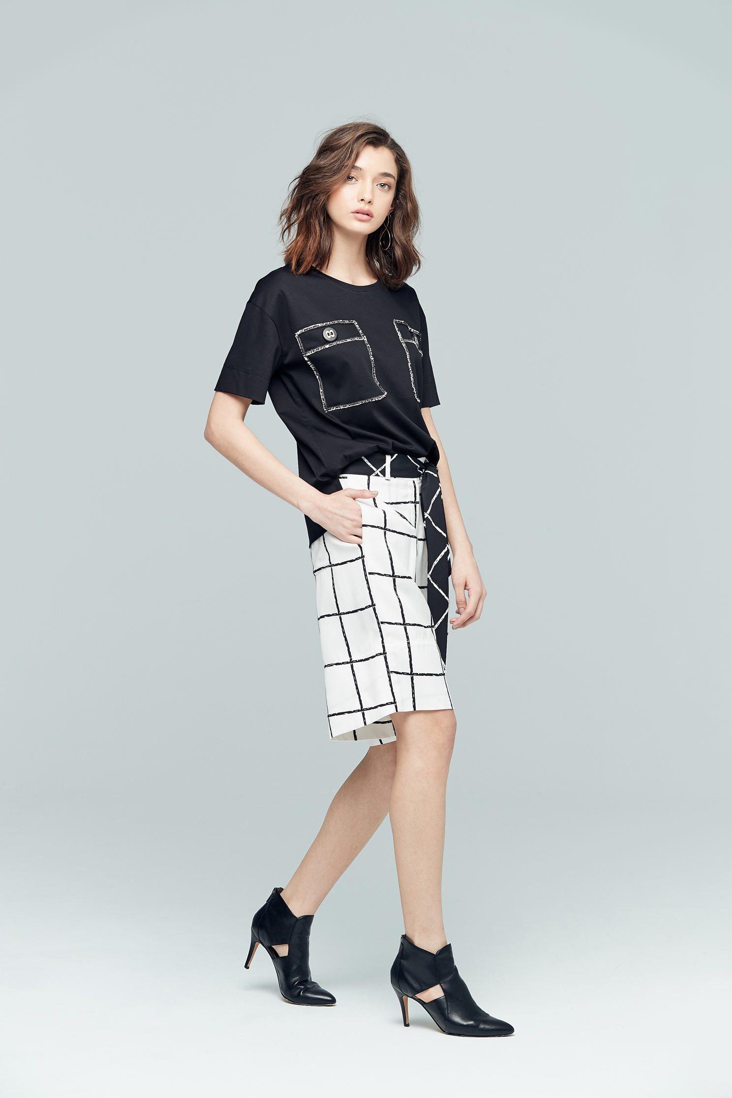 Simplicity plaid classic shorts,shorts,pants