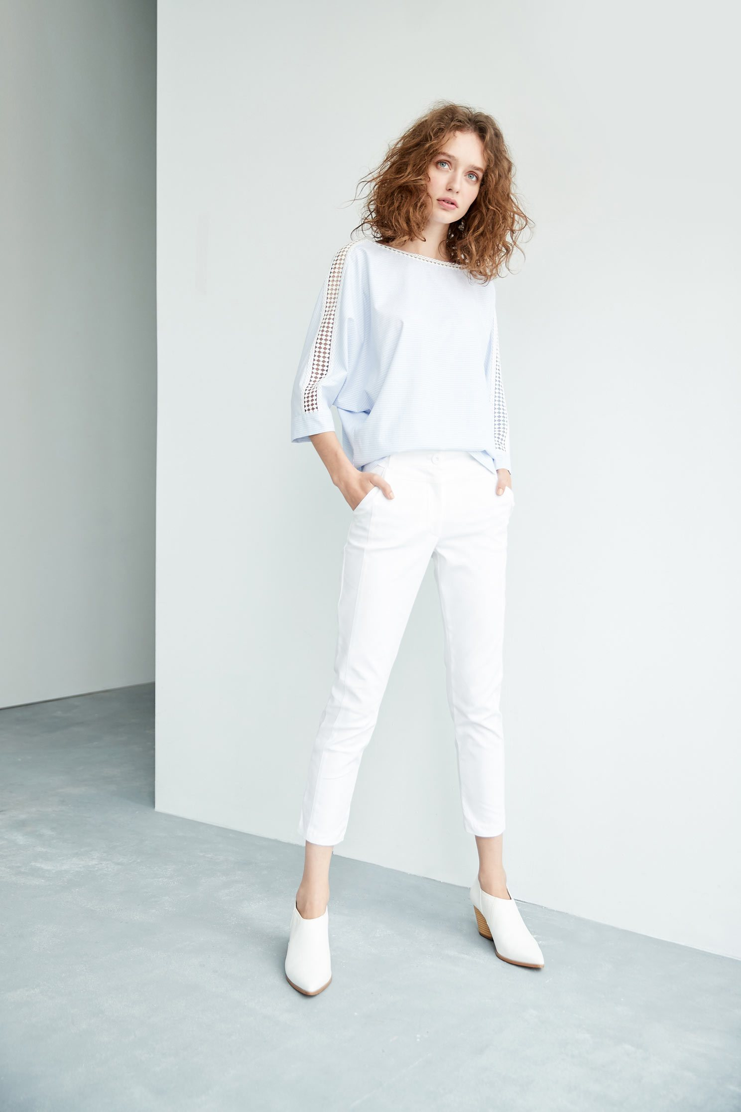 Plain slim pants,白色褲子,白色長褲,Skinny pants,Pants,長褲