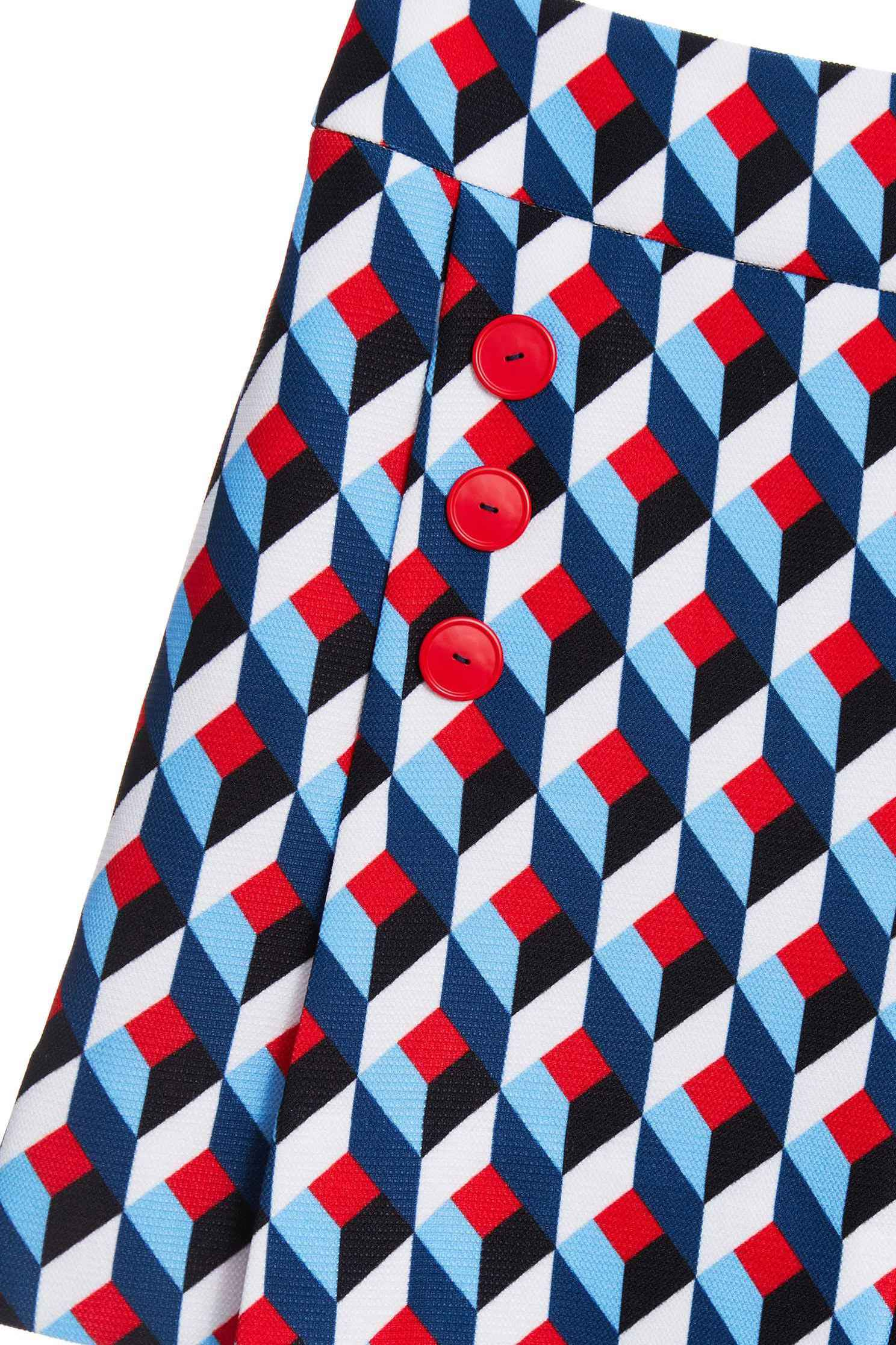 Geometric print skirt,miniskirt,culottes