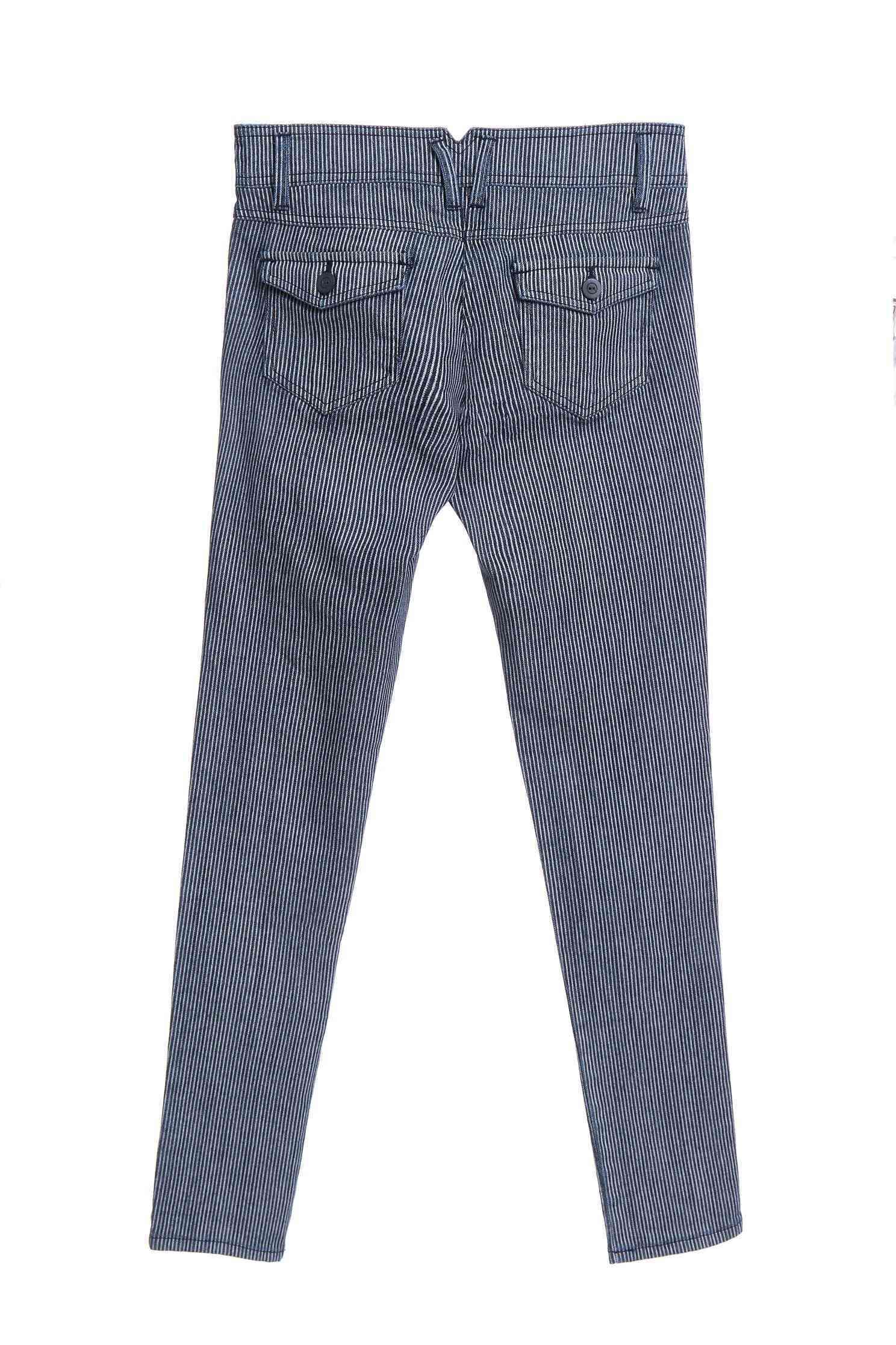 Striped denim trousers,tanning,cowboy,jeans,sdenimtrousers,skinnypants,pants,pants