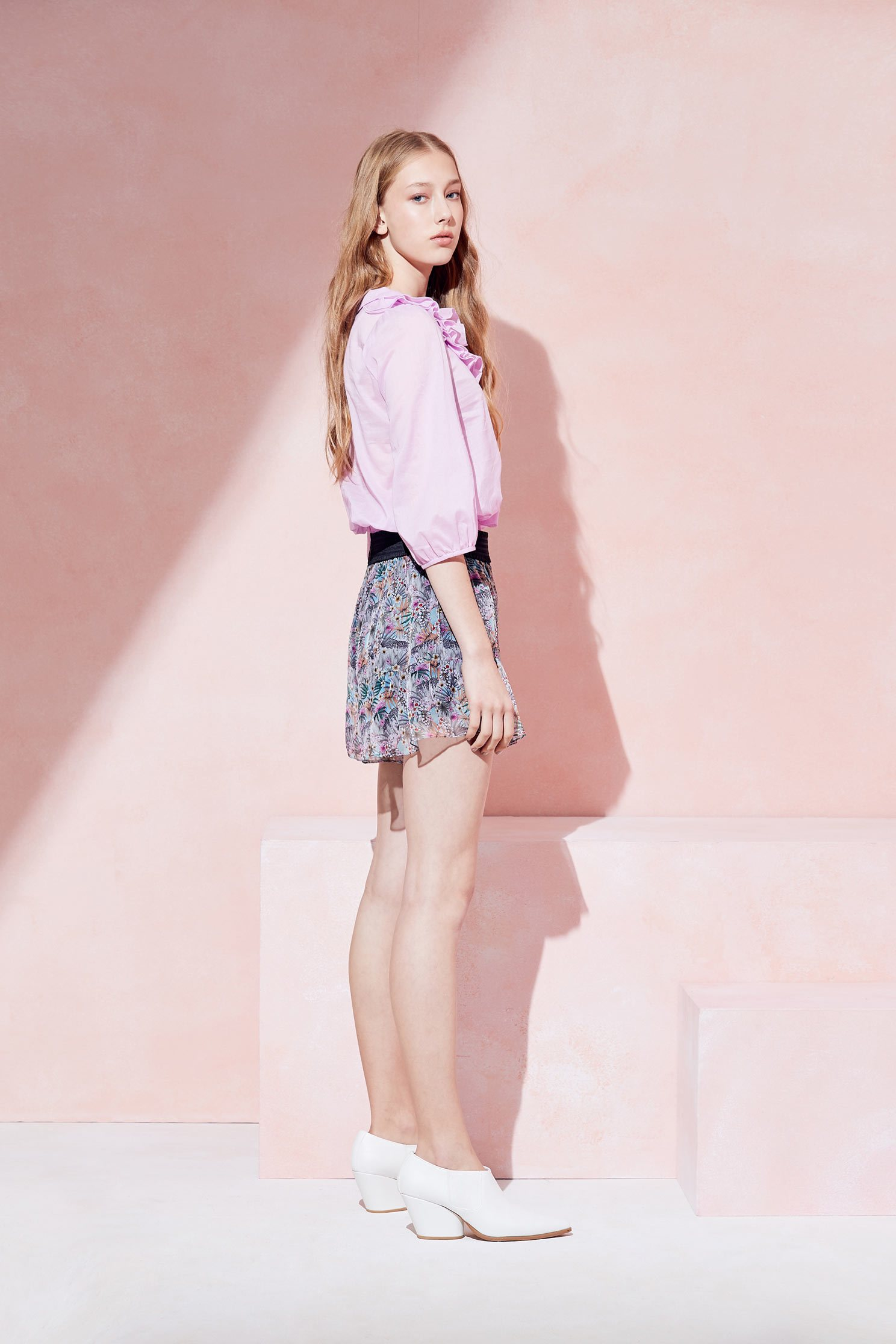 Elegant floral design shorts,shorts,pants,culottes,thinpants