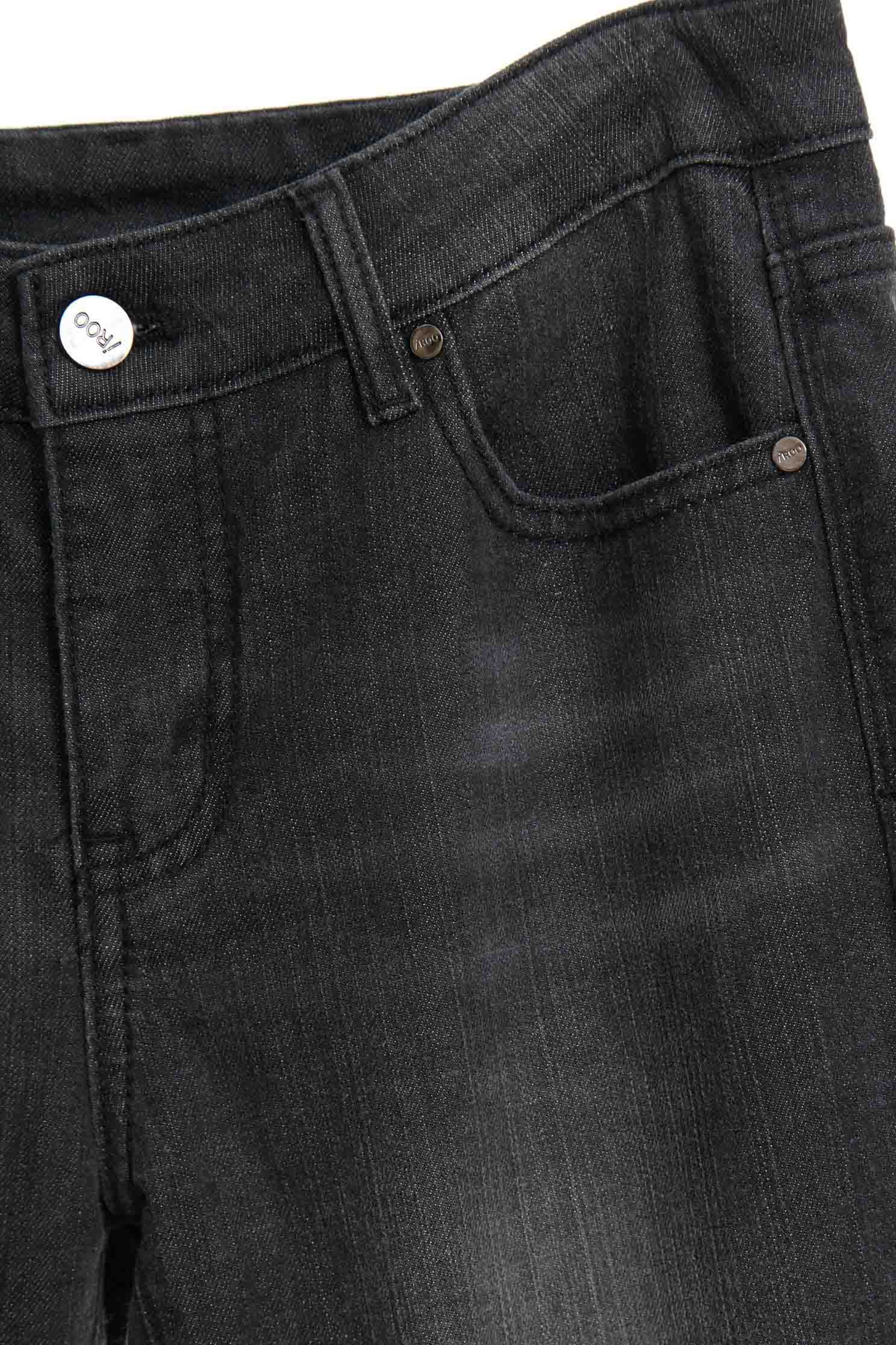 Brushed mid-waist jeans,tanning,newyearred,cowboy,jeans,sdenimtrousers,pants,thinpants,blackjeans,blacktrousers