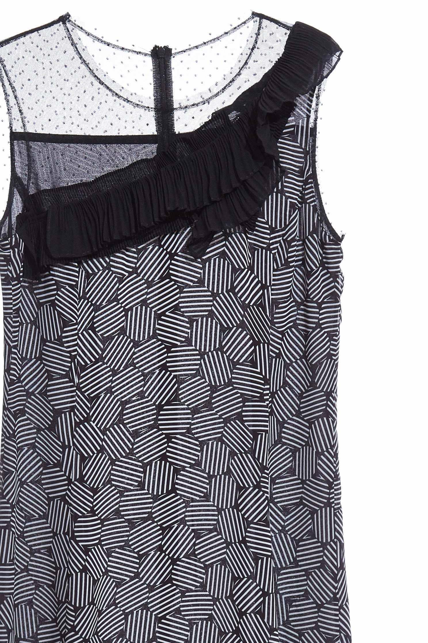 Charming solid flounce dress,sleevelessdress,perspectivedress