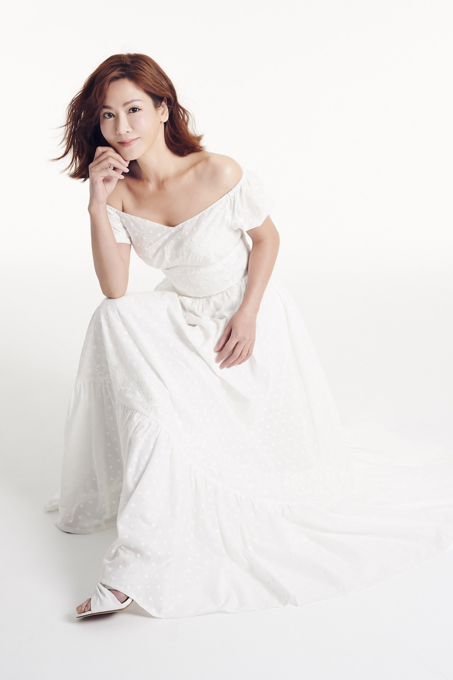 JACQUARD ruffle DRESS,dress,onlinelimitededition,longdress