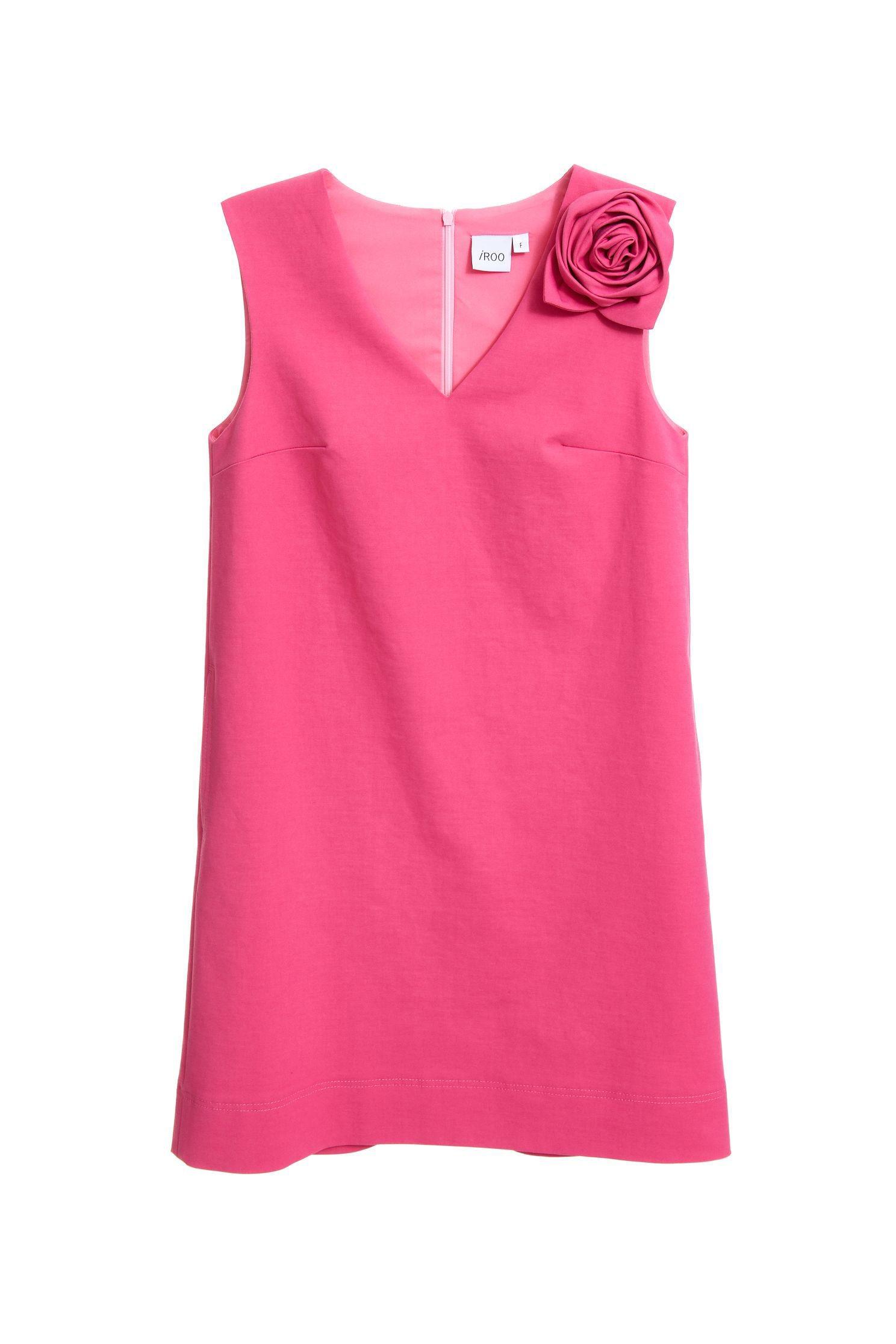 Elegantly decorated sleeveless dress