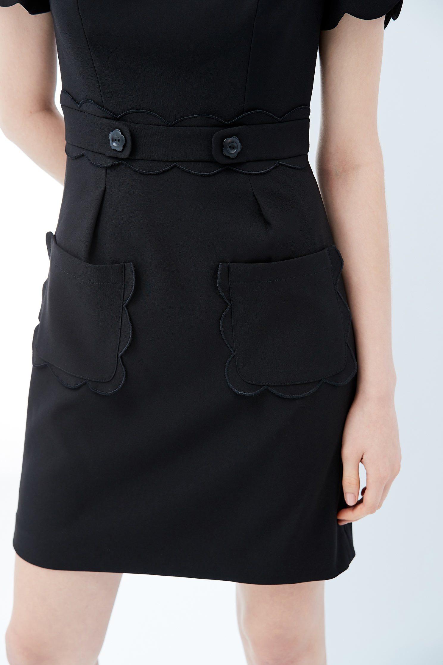 Elegant woman fashion dress,dress,shortsleevedress,blackdress