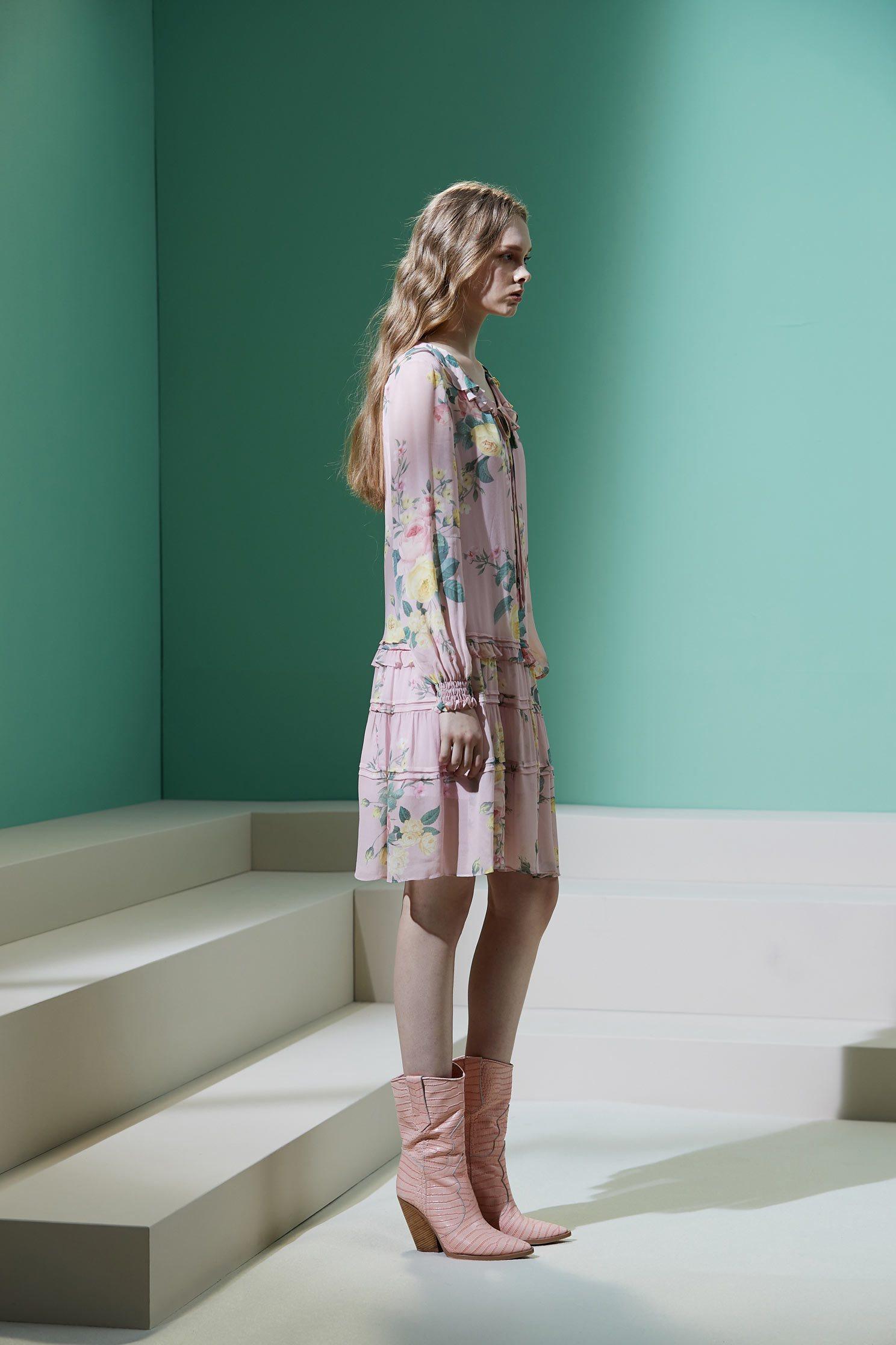 Romantic flowy short skirt,Dress,Casual dress,Rayon,i-select,Long dress