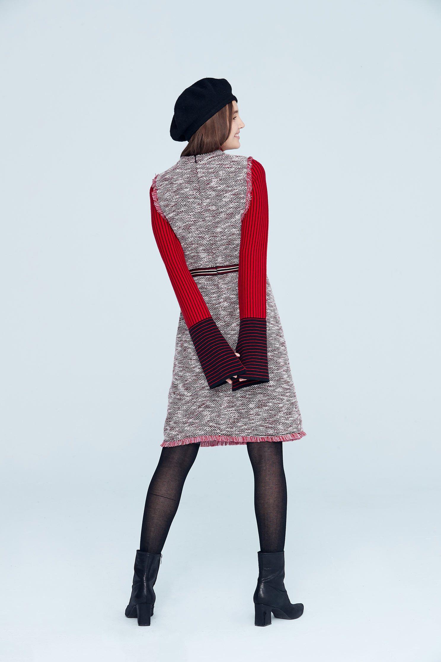 Elegant vintage classic design sleeveless dress,cocktaildress,sleevelessdress,onepiecedress,knitting,knitteddress
