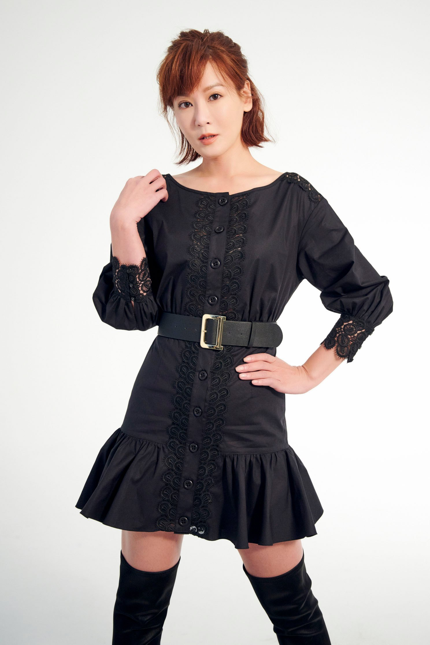Lace embroidered ruffle dress,dress,embroidery,embroiderddress,onlinelimitededition,cocktaildress,valentine,embroidered,lace,lacedress,blackdress