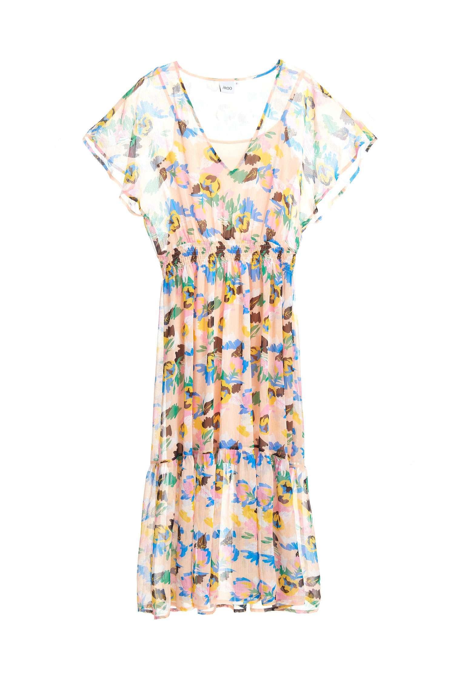 Floral chiffon dress,v-neckdress,cocktaildress,shortsleevedress,chiffon,chiffondress