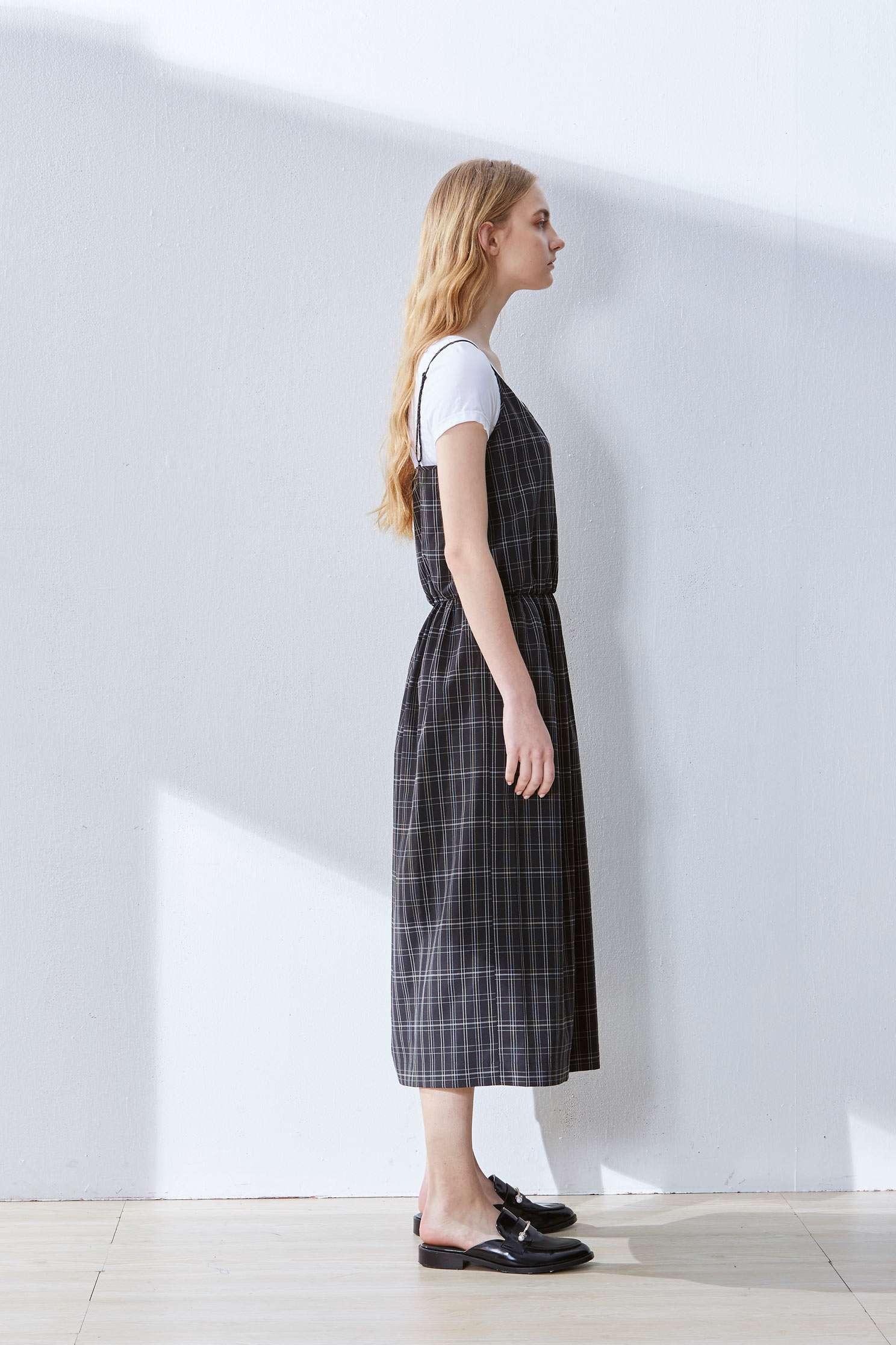 Plaid classic dress,t-shirt,casualdress,shortsleevedress,spaghettistrapdress,longdress