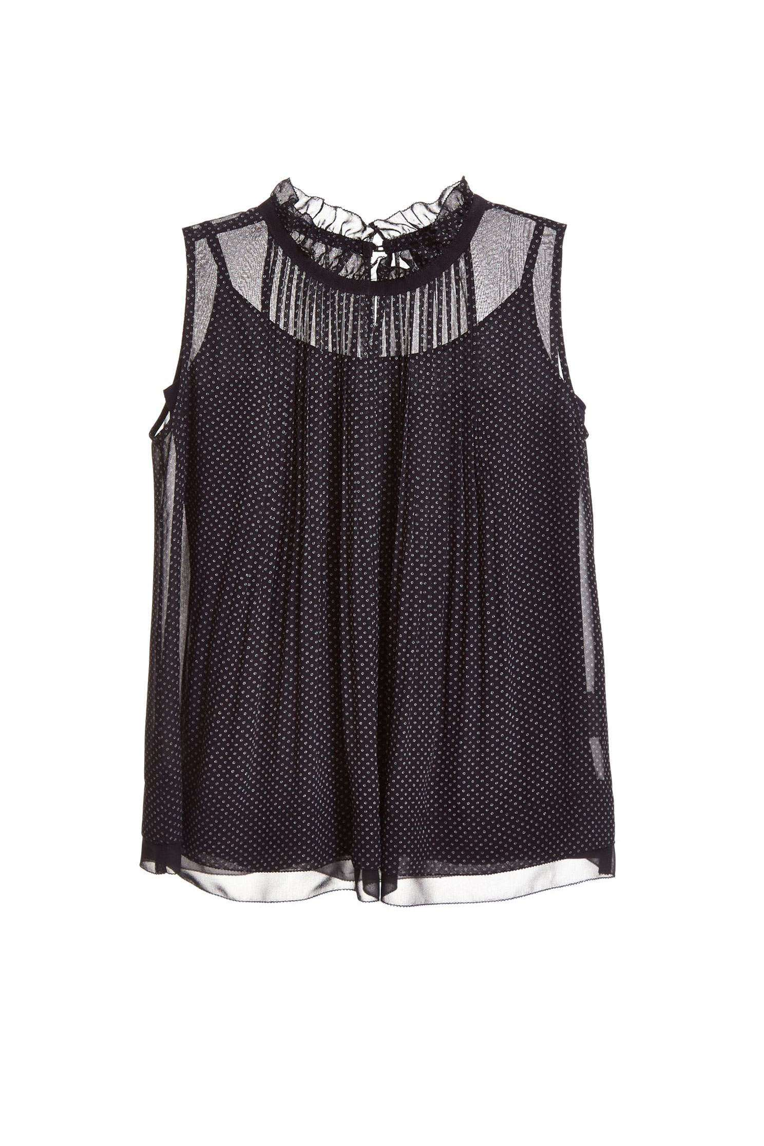 Elegant and slightly transparent chiffon vest,singlet,vest,girlfriendsspringtour,chiffon,blackvest