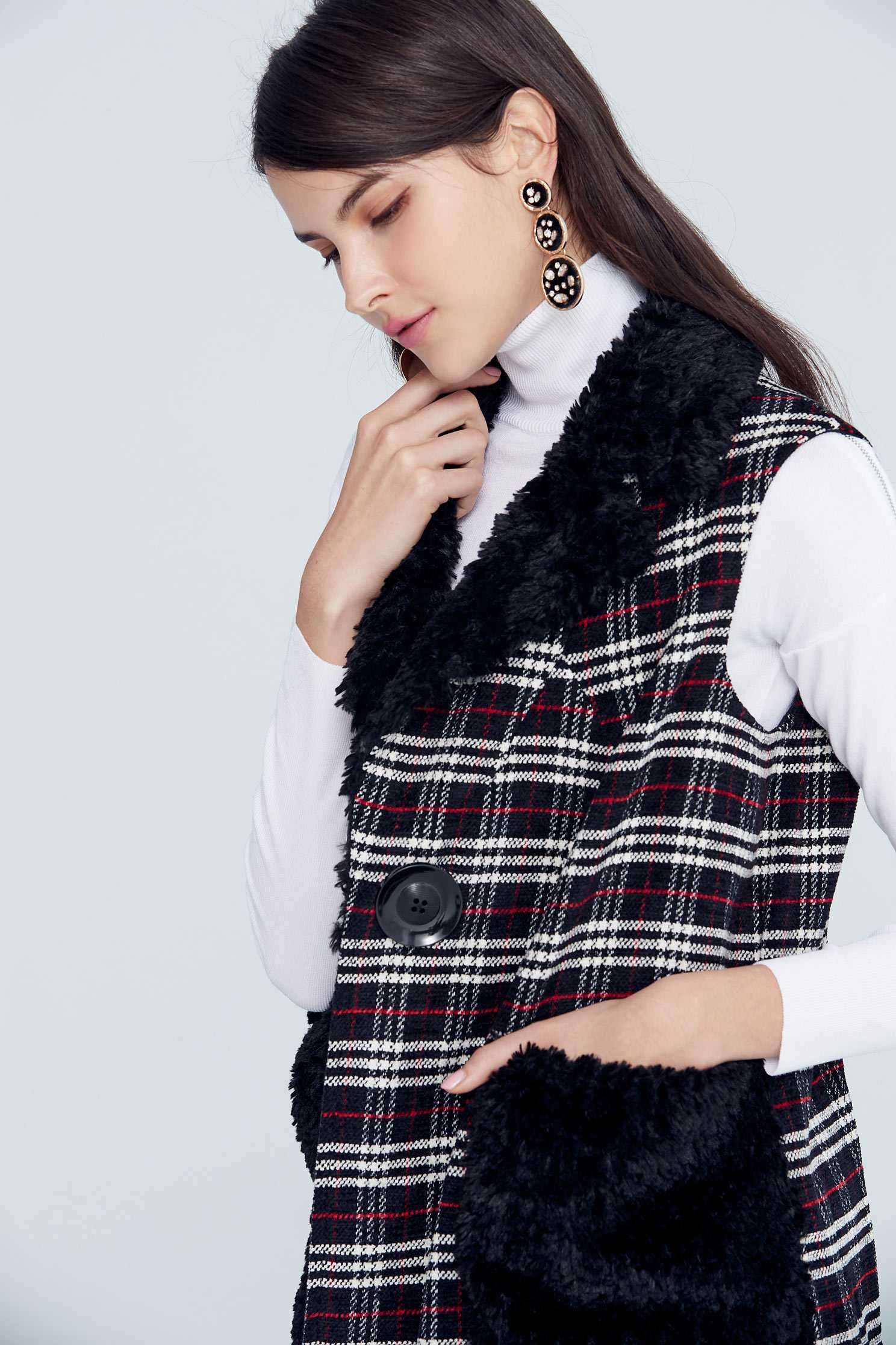 Vintage plaid classic design vest,vest,vest