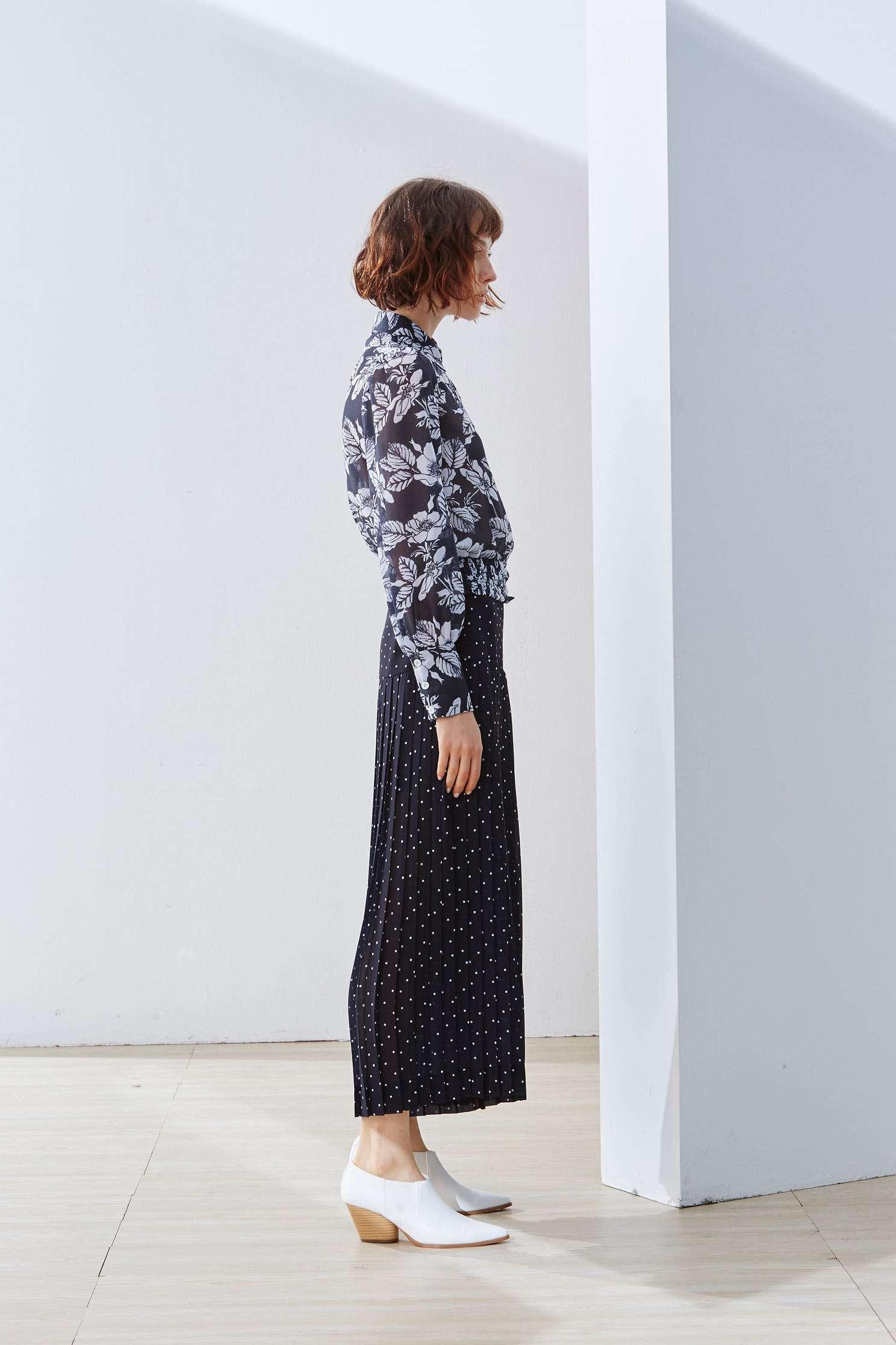 Elegant full version of the big flower classic top,Top,Cotton,Blouse,長袖上衣
