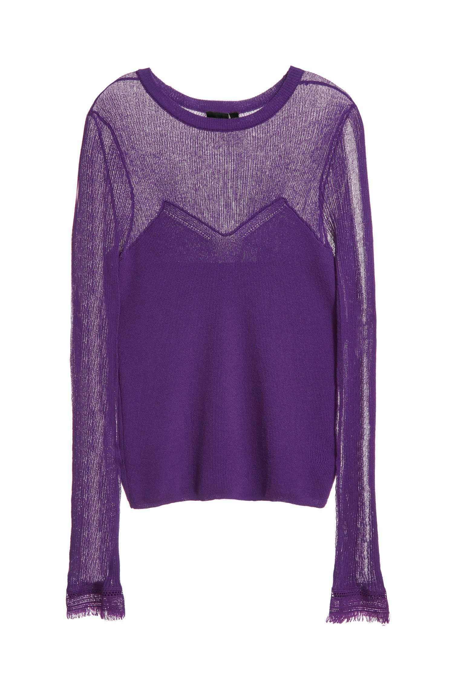 Fit long-sleeved knit wear,fantasypurple,knitting,knittedtop,knittedtop,longsleevetop