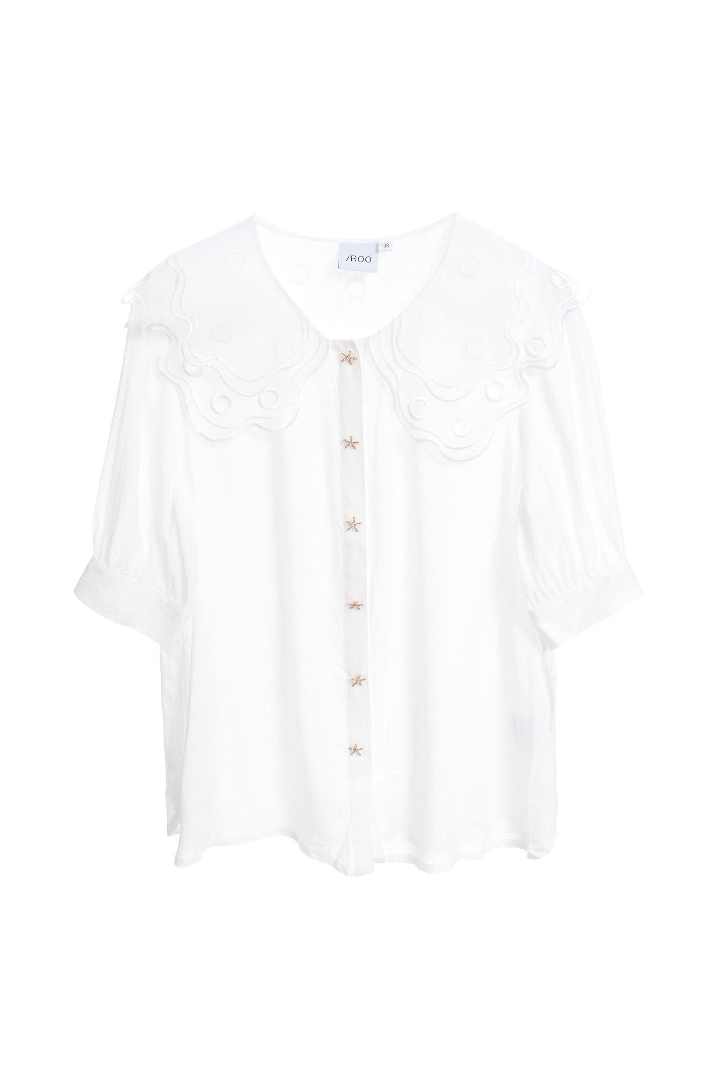 Transparency designed shirts,top,whitetop,shortsleevetop,i-select,blouse,longsleevetop