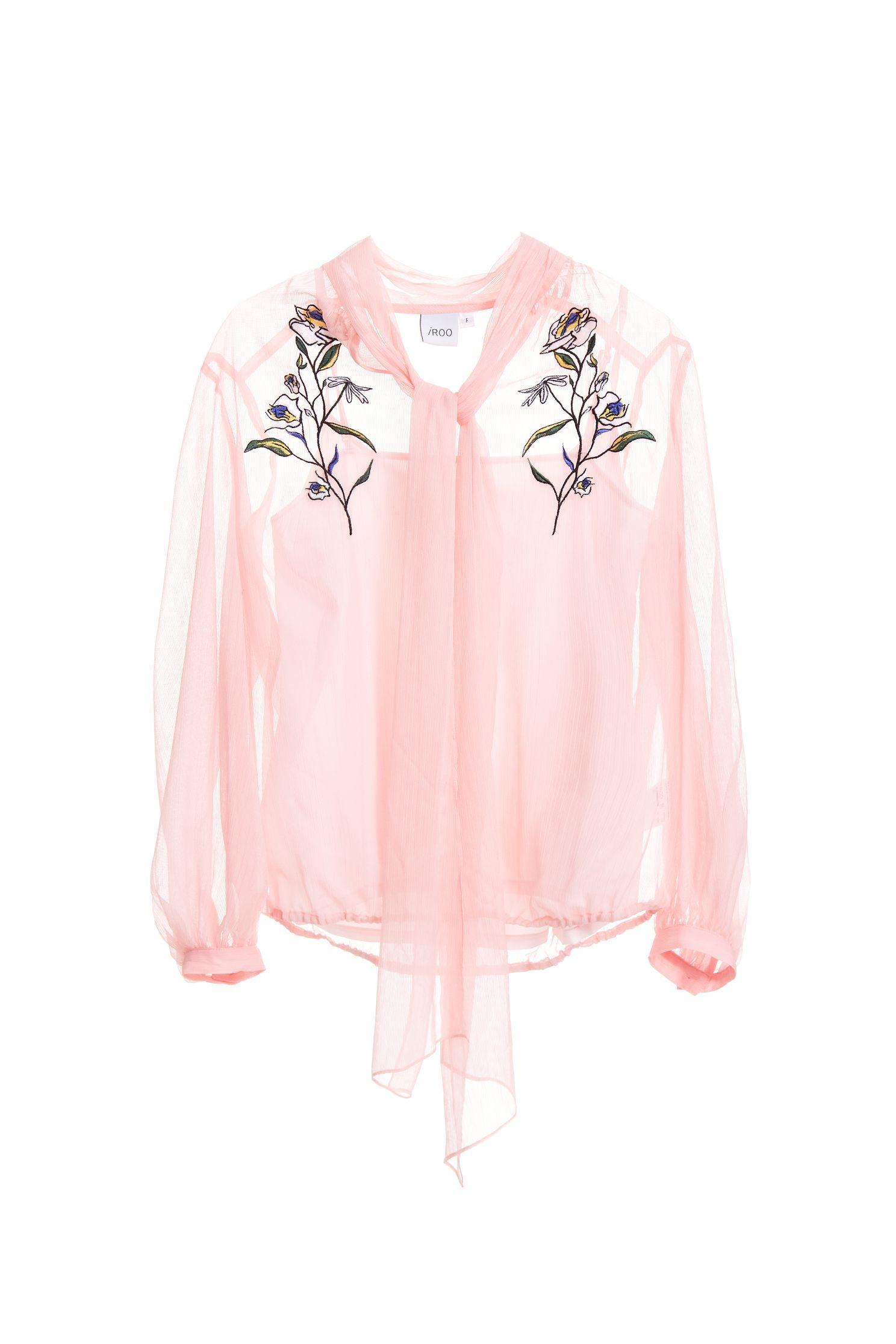 Embroidered chiffon shirts,top,embroidery,embroideredtop,i-select,embroidered,embroideredtop,blouse,longsleevetop,chiffon,chiffontop