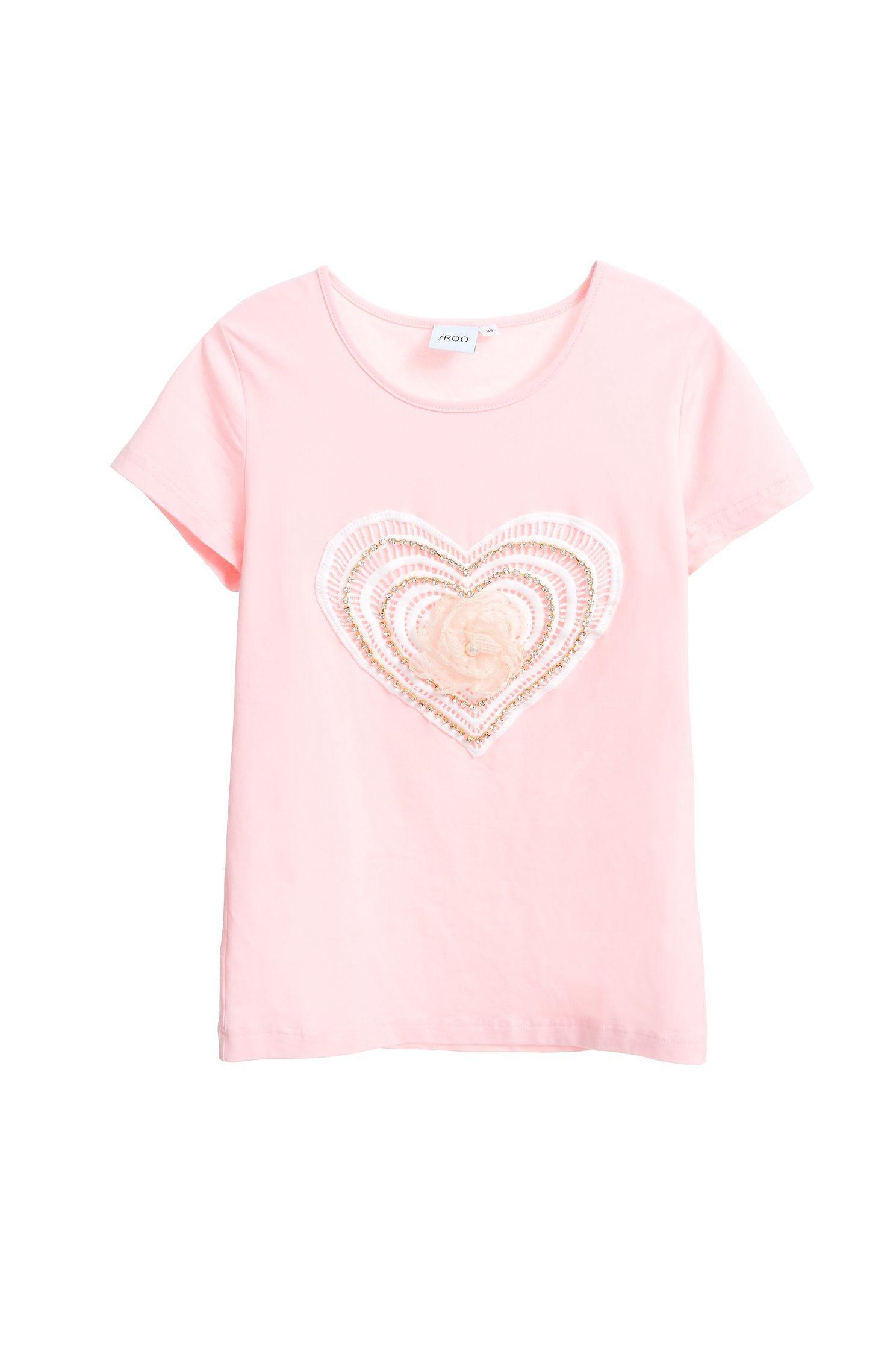 Flower heart T-shirts