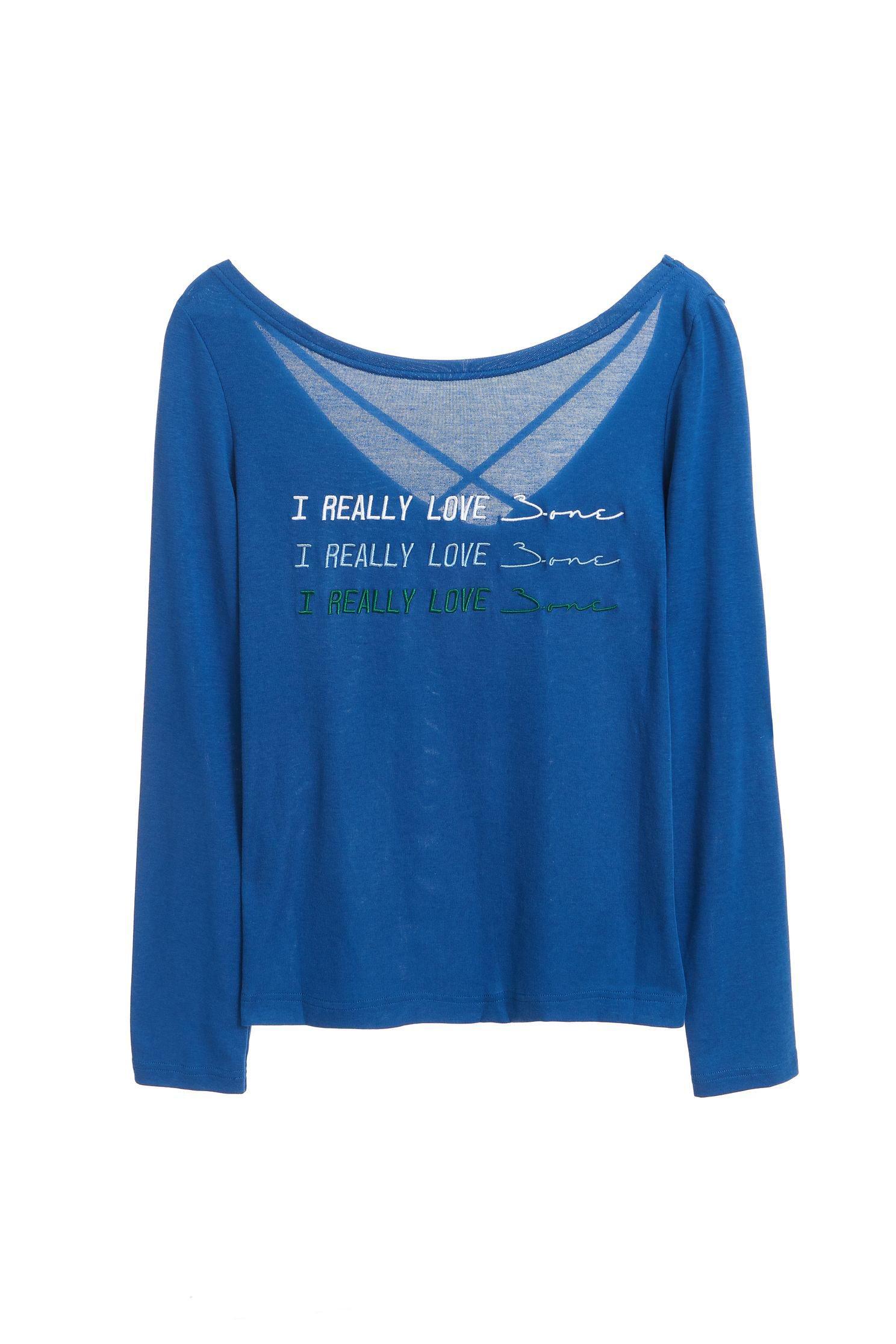 iRoo x 3.one Cotton logo T-shirt(blue)