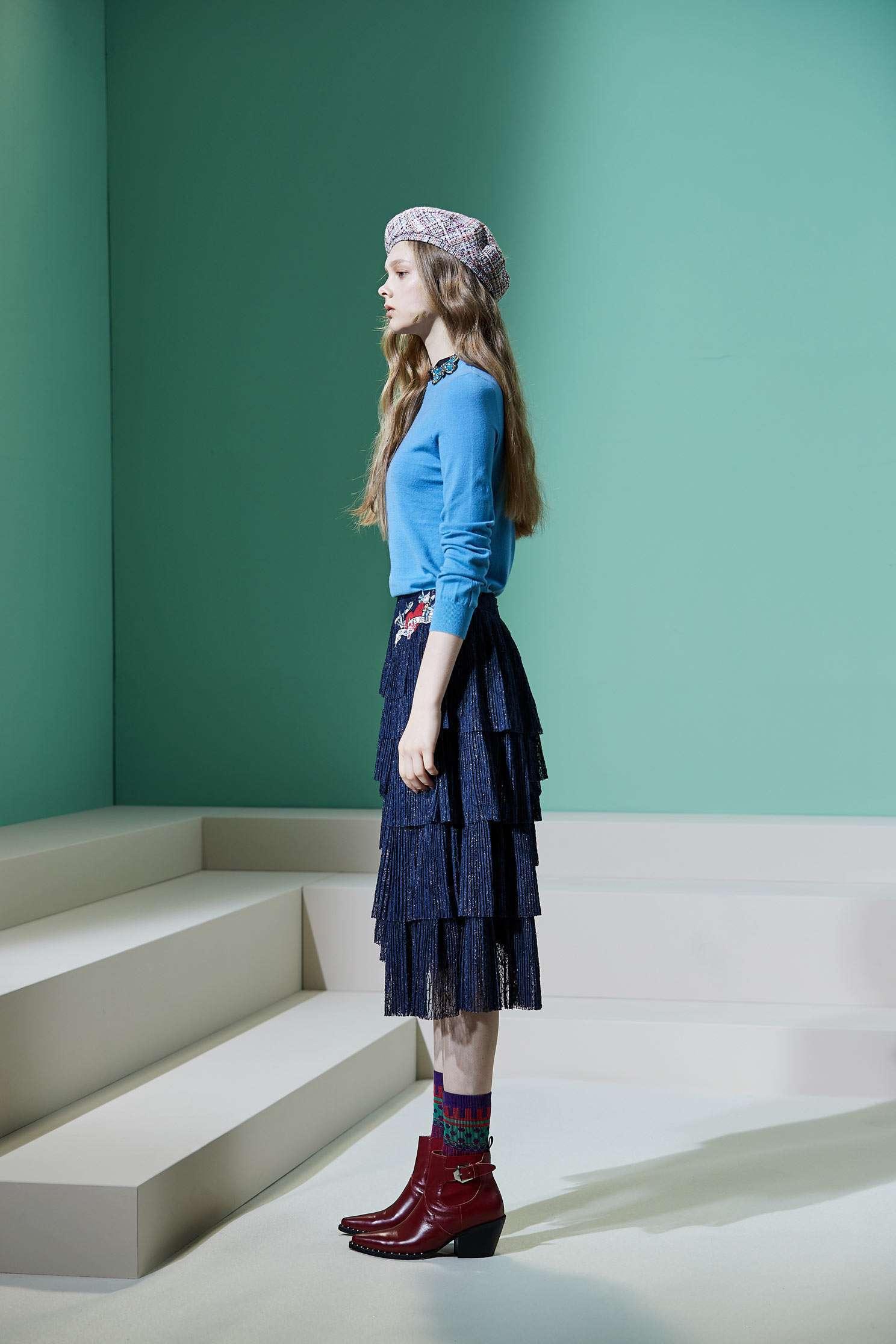 Butterfly rhinestone knitting top,pantoneblue,top,outerwear,knitting,knittedtop,knittedtop,longsleevetop