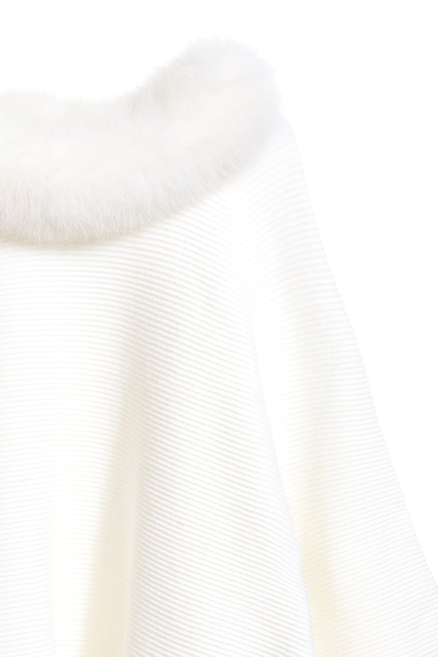 The top with fluff on collar,top,whitetop,knittedtop,longsleevetop