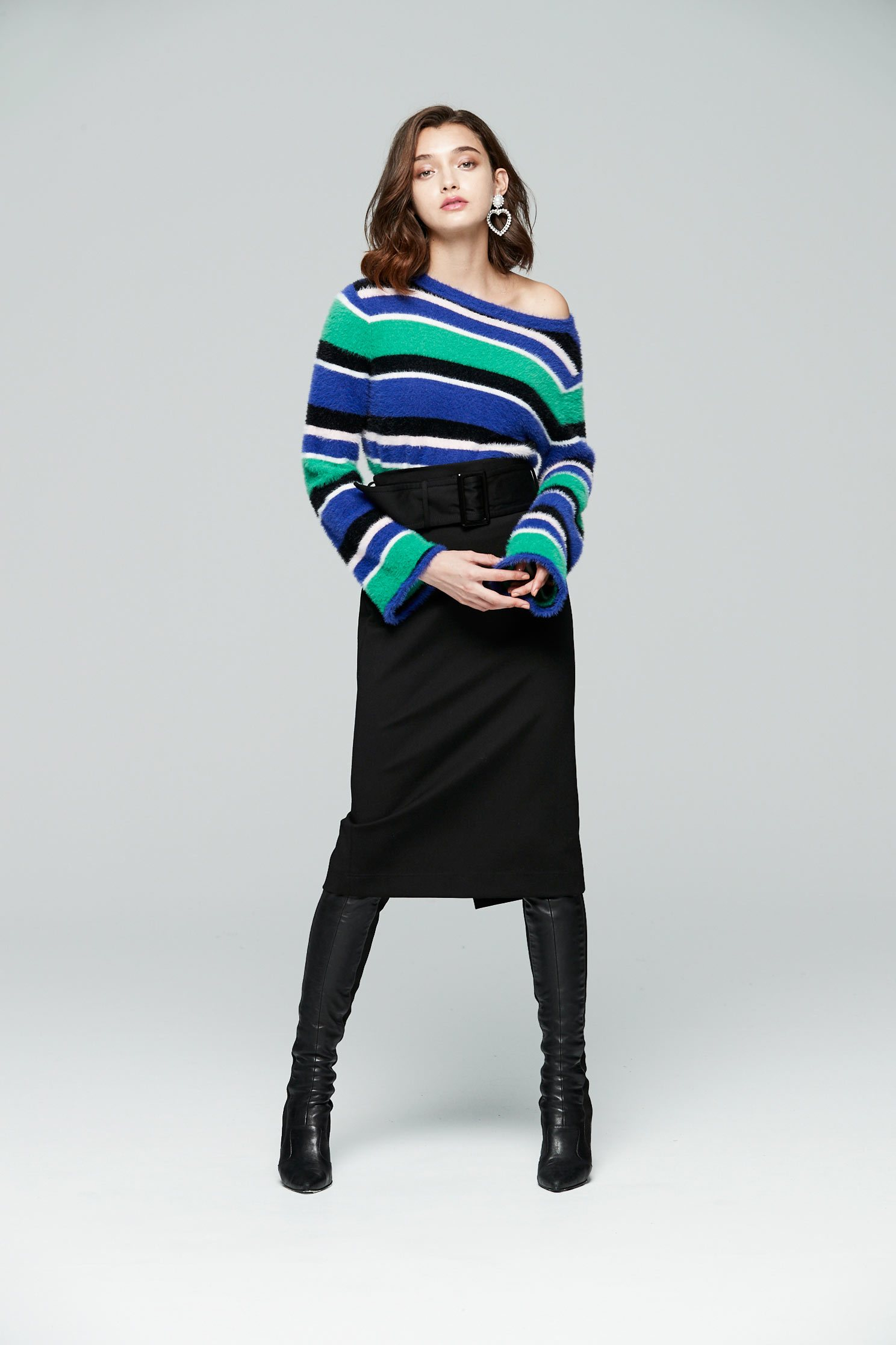 soft striped knit sweater,blouse,knitting,knittedtop,knittedtop,longsleevetop