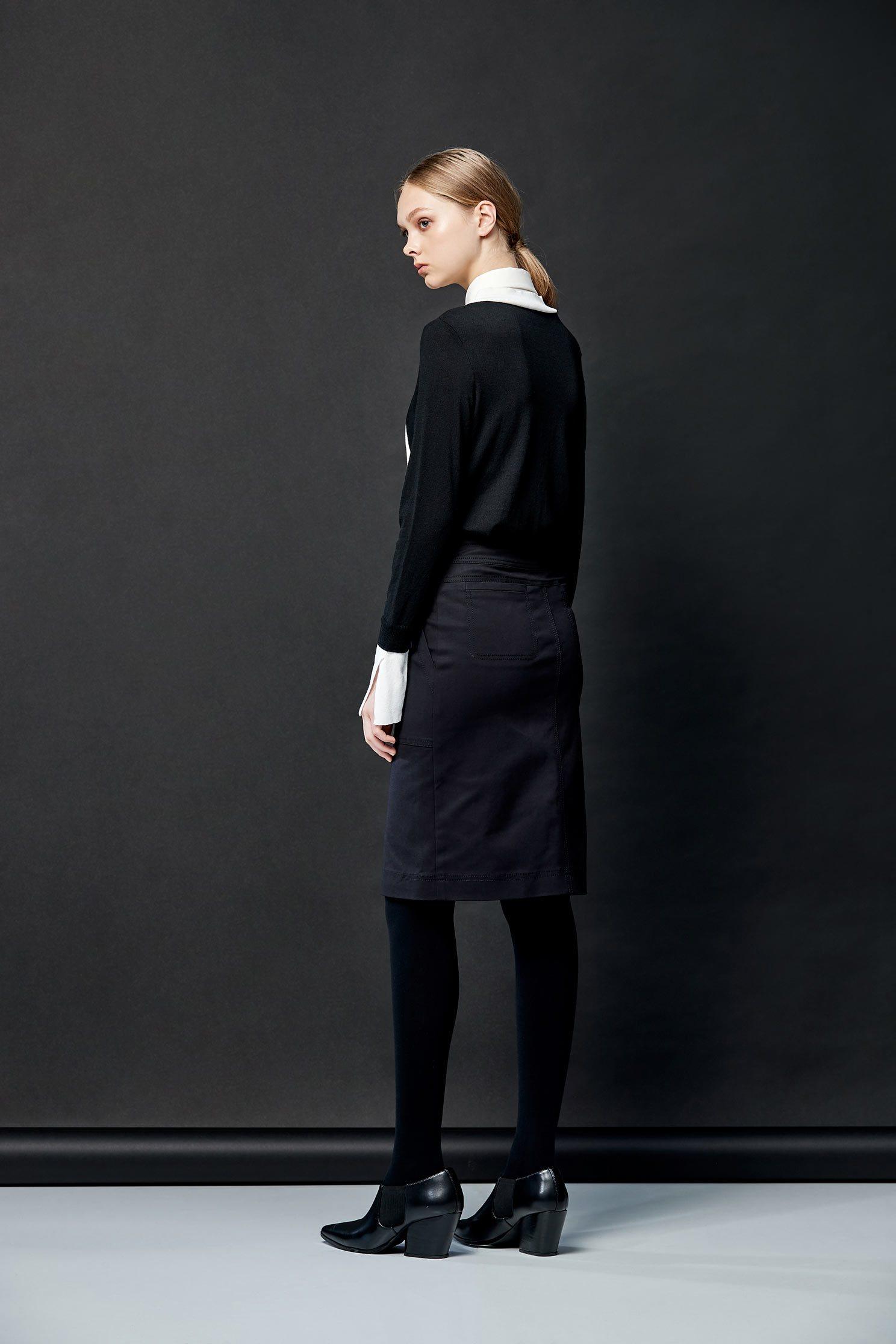 Black/white knitting shirt top,Top,Blouse,knitting,Knitted top,Knitted Top,長袖上衣