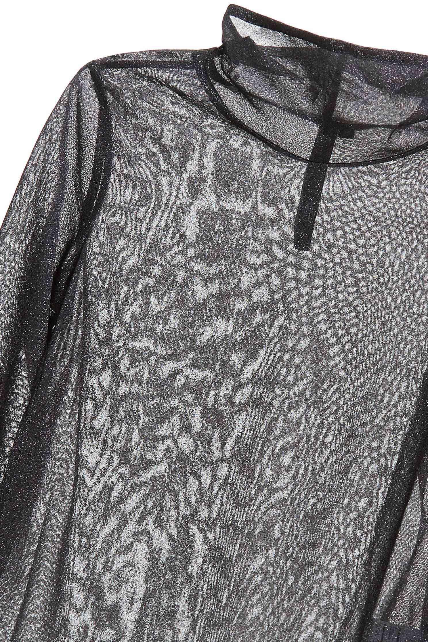 Black gillter turtleneck top,top,see-throughtop,longsleevetop,turtlenecktop,blacktop