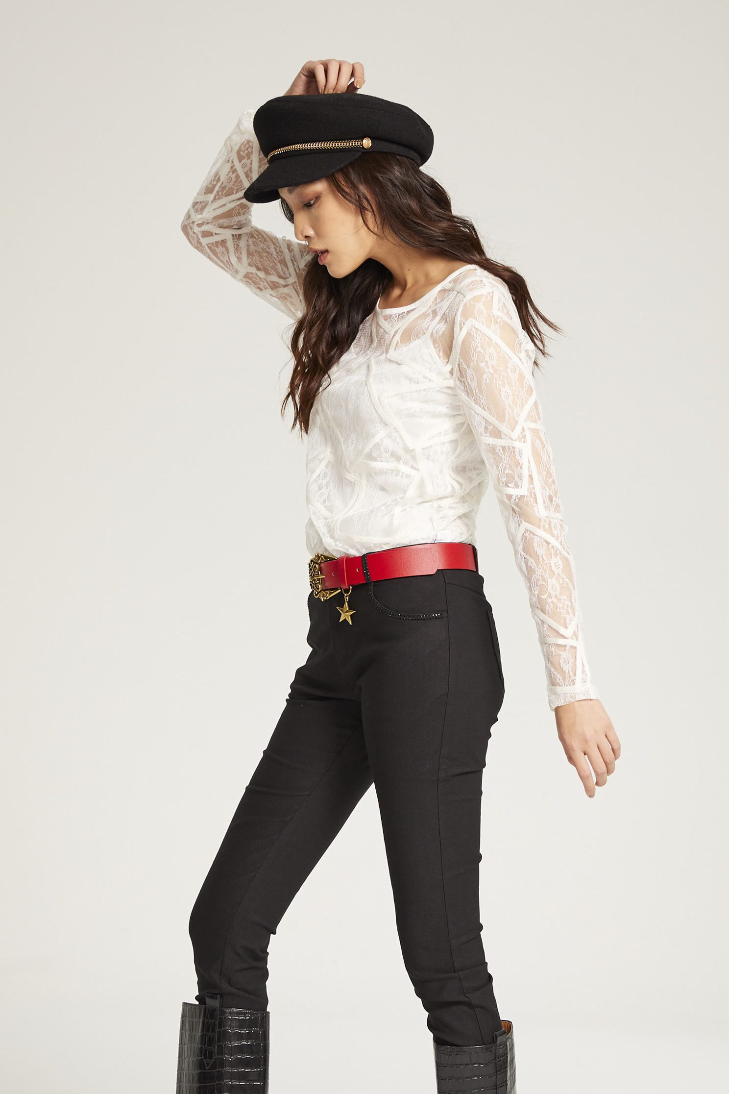 Lace Long Sleeve Top,top,whitetop,lace,lacedtop,longsleevetop