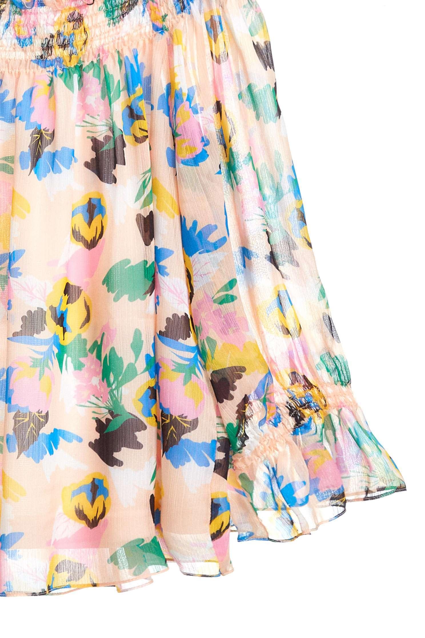 Floral chiffon long sleeve top,offshouldertop,3/4sleevetop,top,offshouldertop,i-select,longsleevetop,chiffon,chiffontop